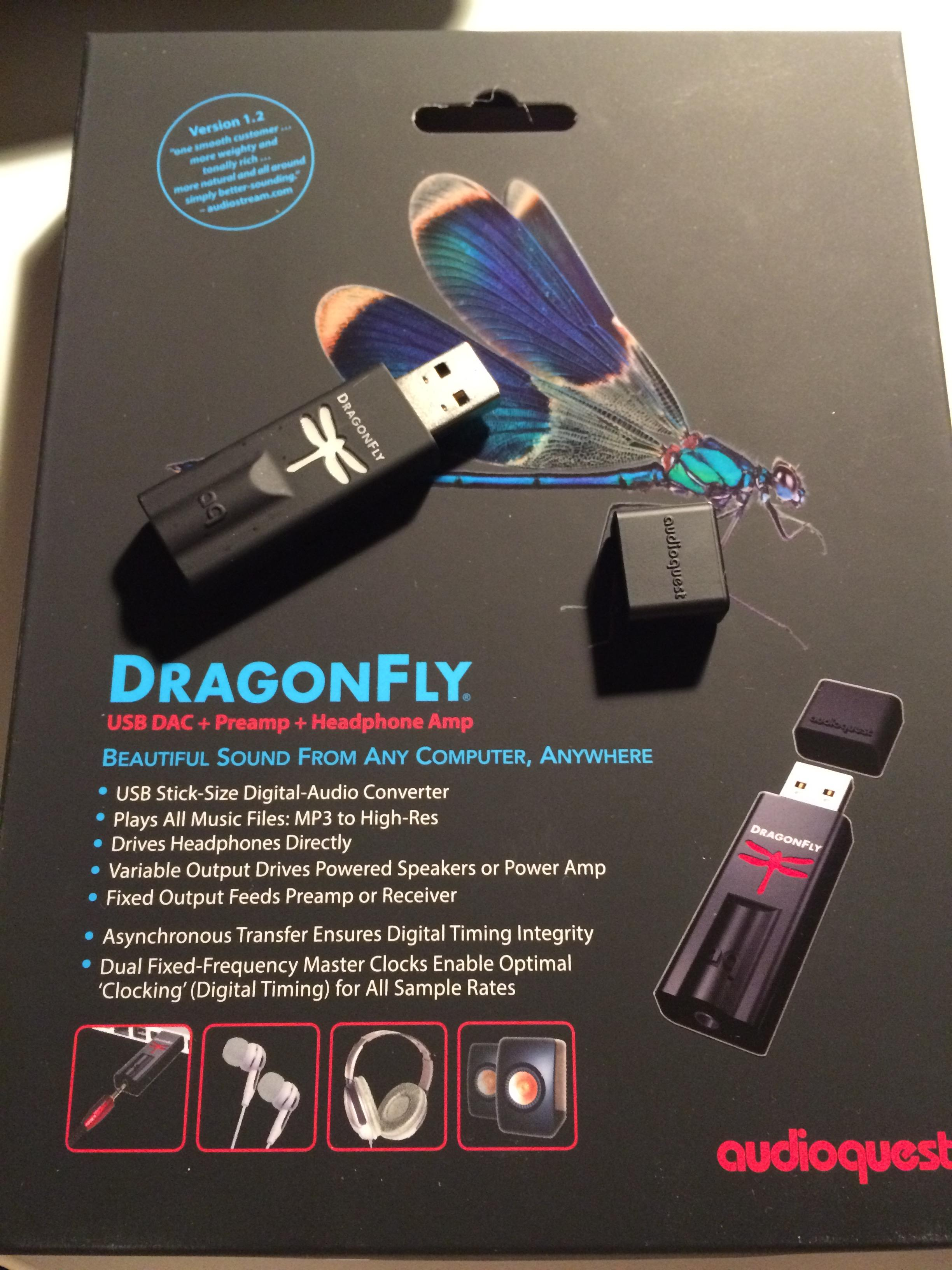 Audioquest DragonFly USB DAC Preamp Headphone Amp Version
