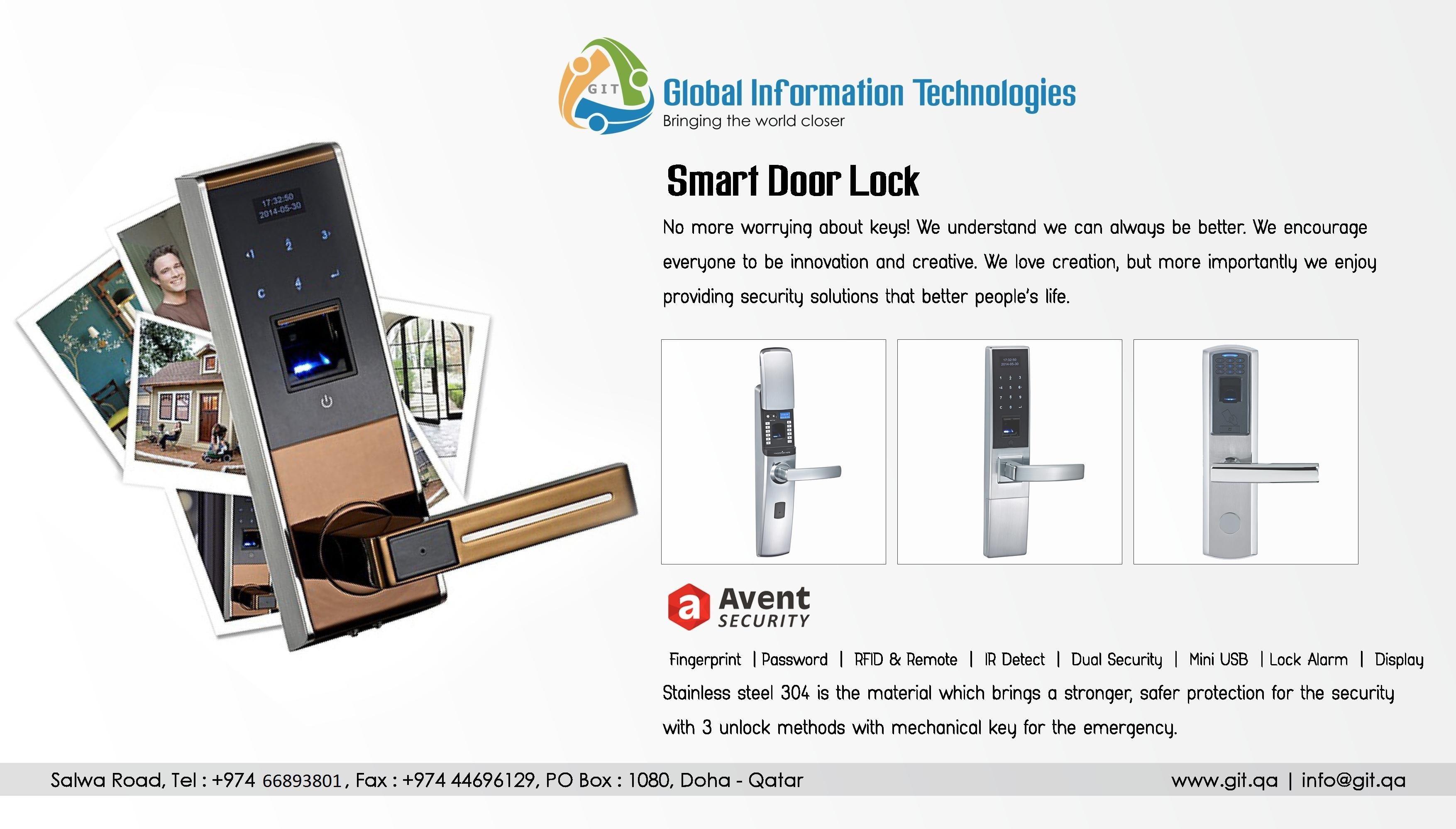 FINGER PRINT DIGITAL DOOR LOCKS AVENT
