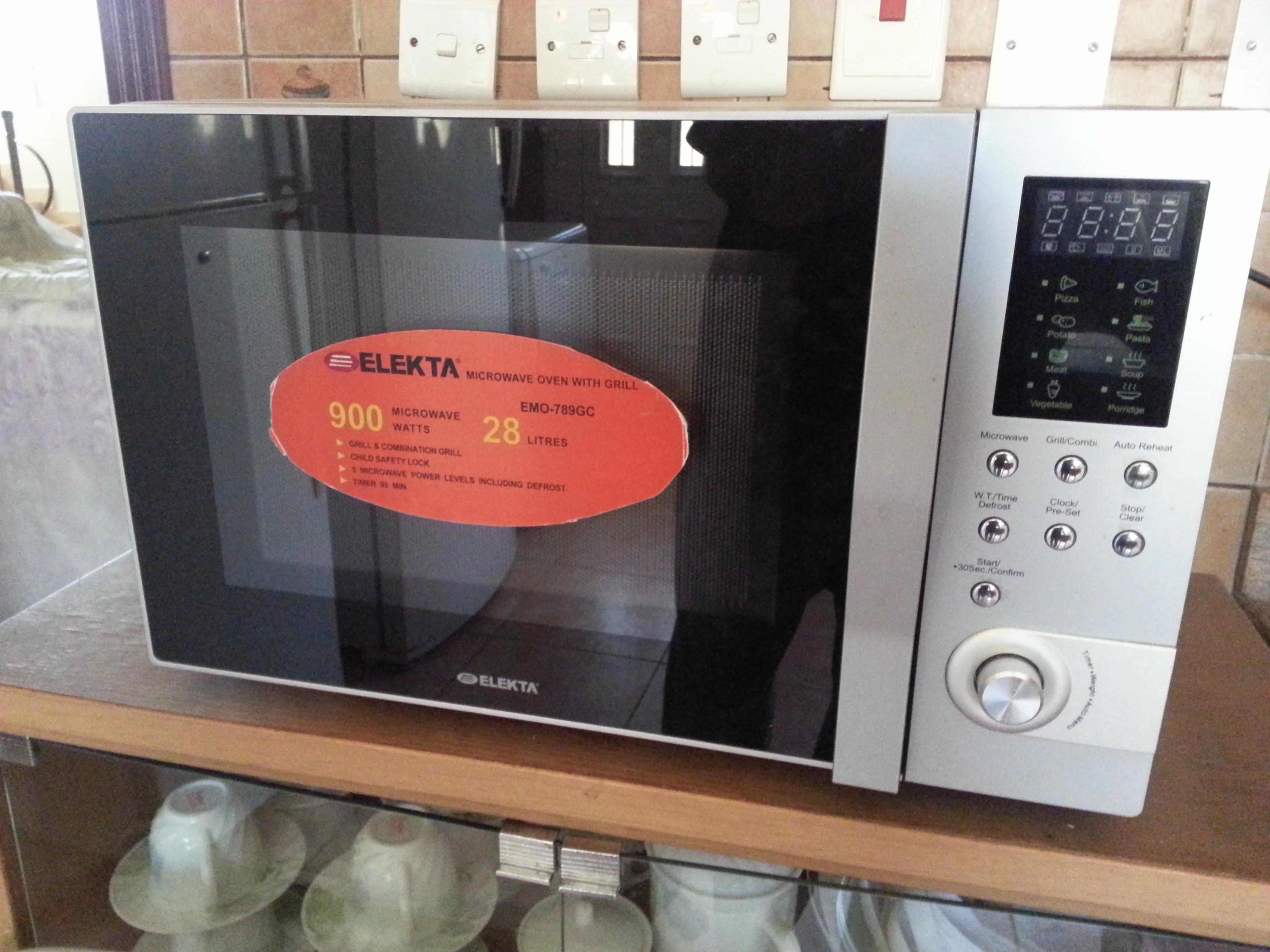 title; title; title; title. Information. One elakta microwave oven.