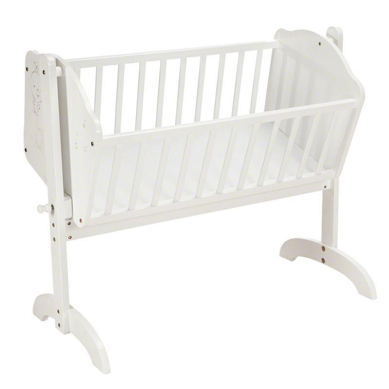 Wooden Baby Cradle White Colour For Just Qr 100 Qatar Living