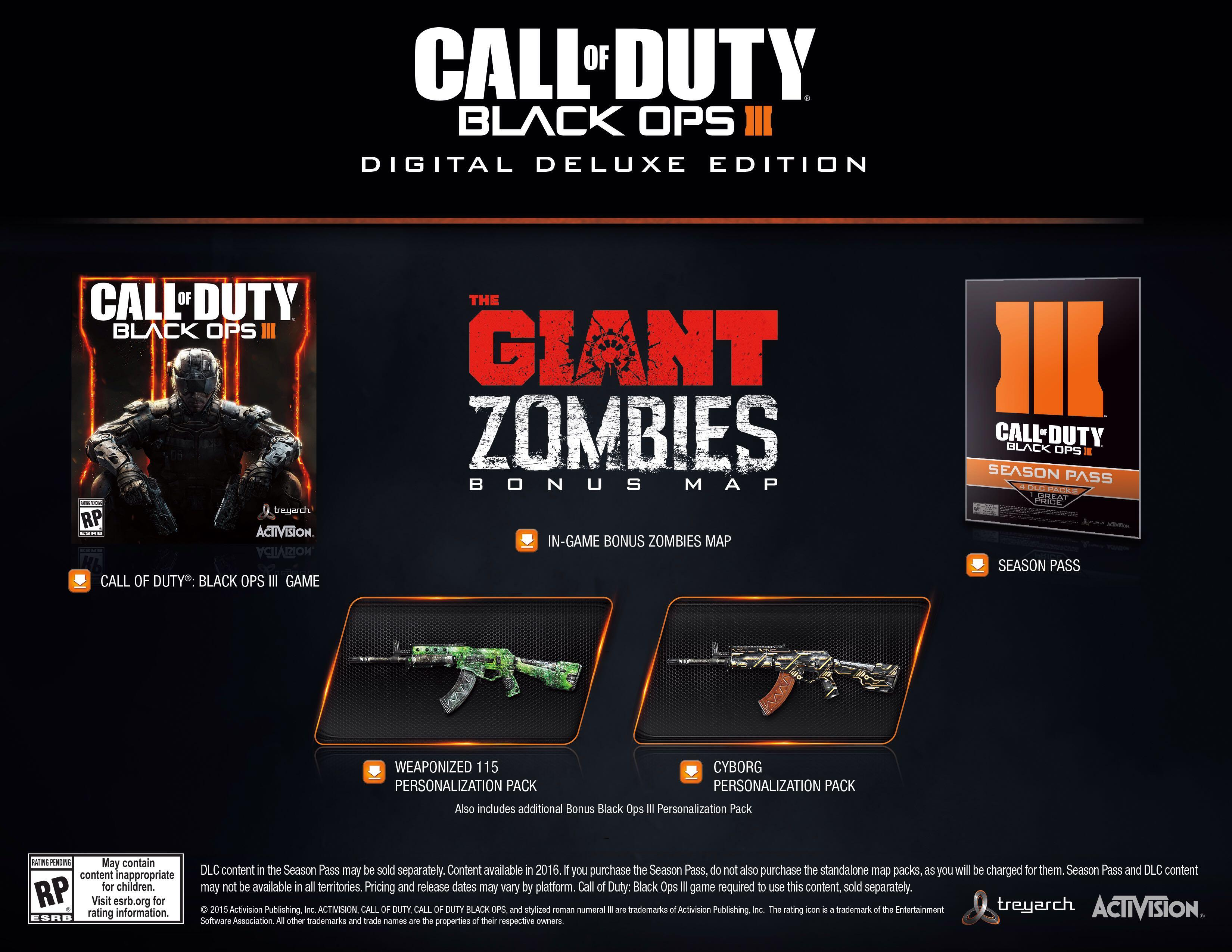 Black Ops 3 digital deluxe edition + GTA 5 PS4 | Qatar Living