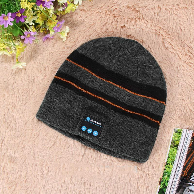 Warm Beanie Hat Wireless Bluetooth Smart Cap Headphone Headset ... 4ecfb004d2f