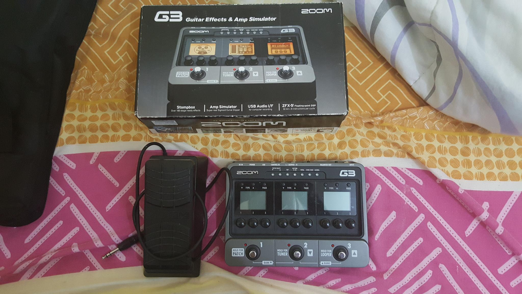 zoom g3 guitar multi effects and amp modelling  | Qatar Living