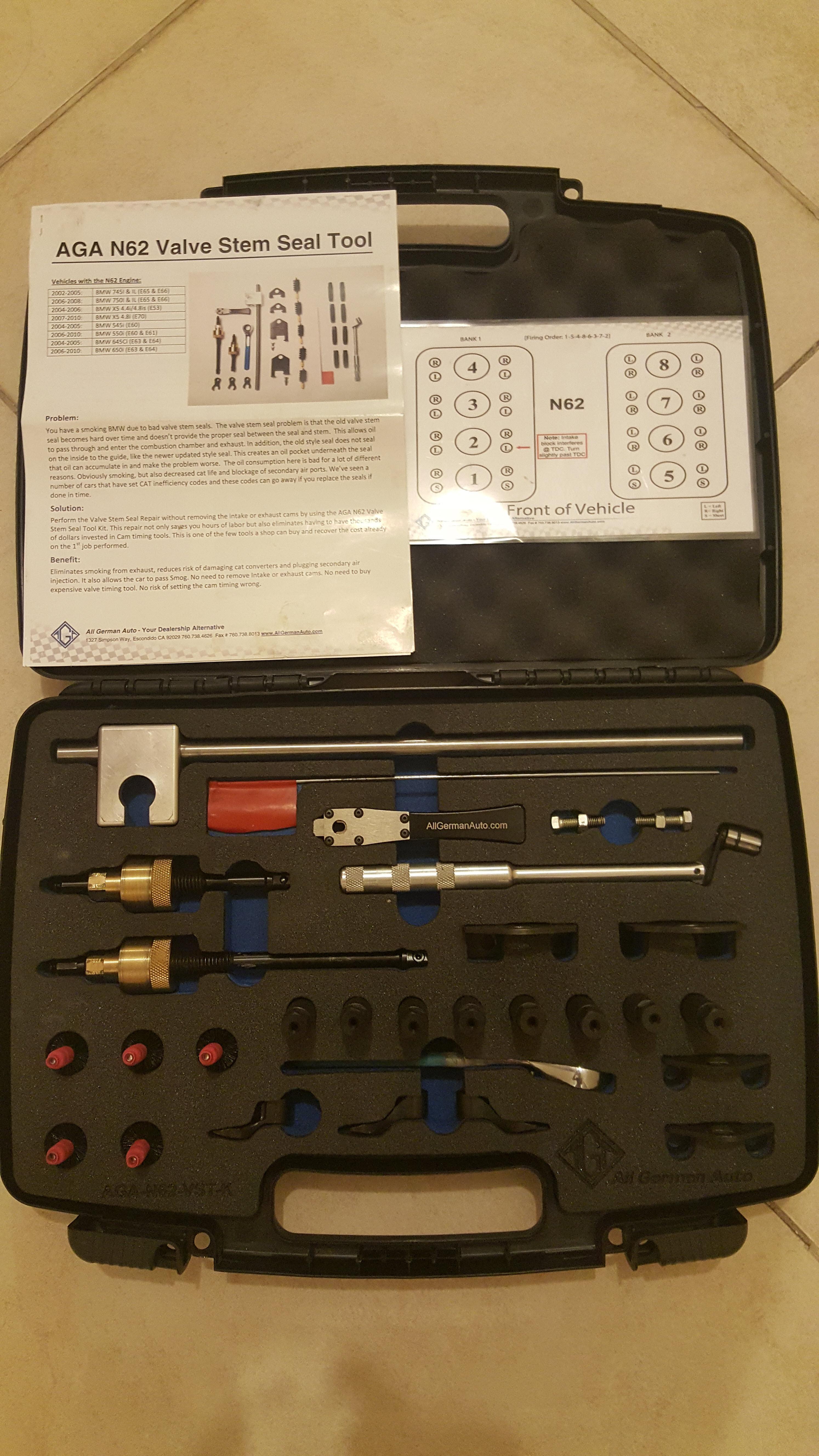 BMW engine N62 & N62-TU Valve Stem Seal Tool Kit | Qatar Living