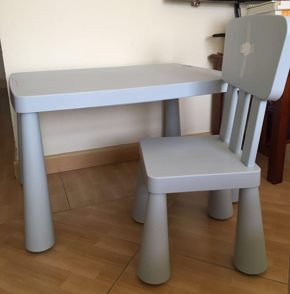 Ikea Mammut Kids Table And Chair Qar 75 For Sale Qatar Living # Muebles Mammut Ikea
