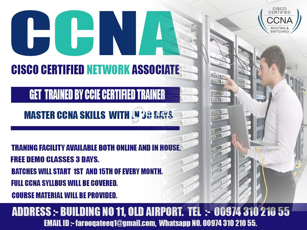 Get CCNA training by CCIE certified trainer | Qatar Living