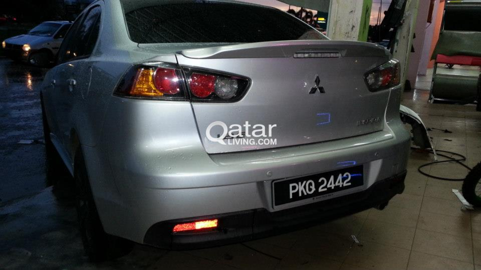 light lancer wing ralliart w rear factory style mitsubishi spoiler