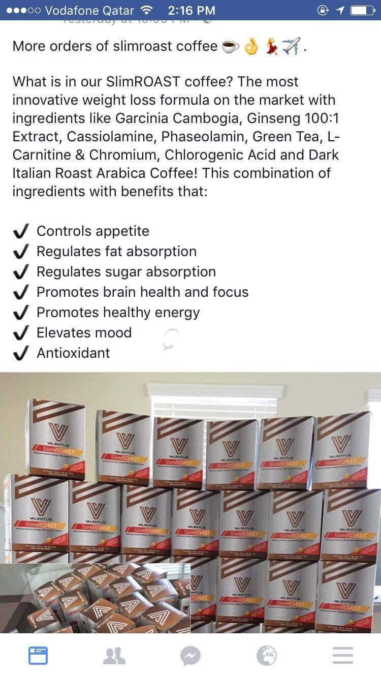 Valentus Slimroast Coffee Us Made Qatar Living