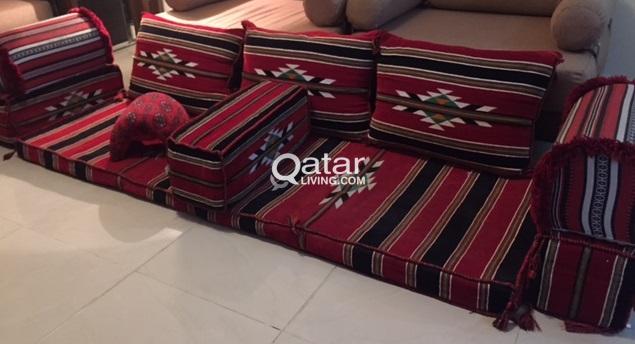 Arabic Majlis Floor Seating Set 5 5 15 2 1 For Sale Qatar Living