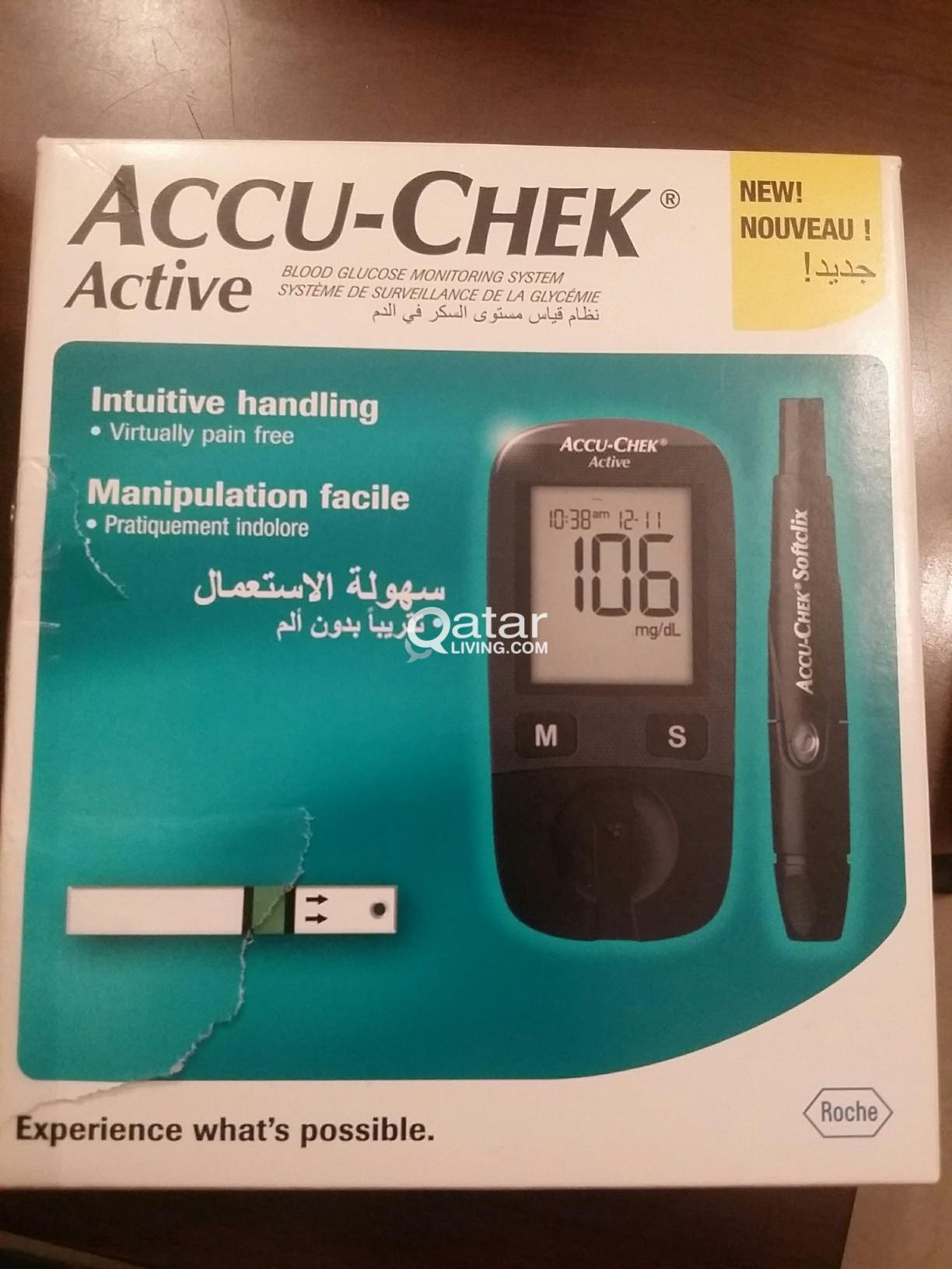 Accu Check Blood Glucose Monitoring System Qatar Living Strip Active Roche Sold Title Information