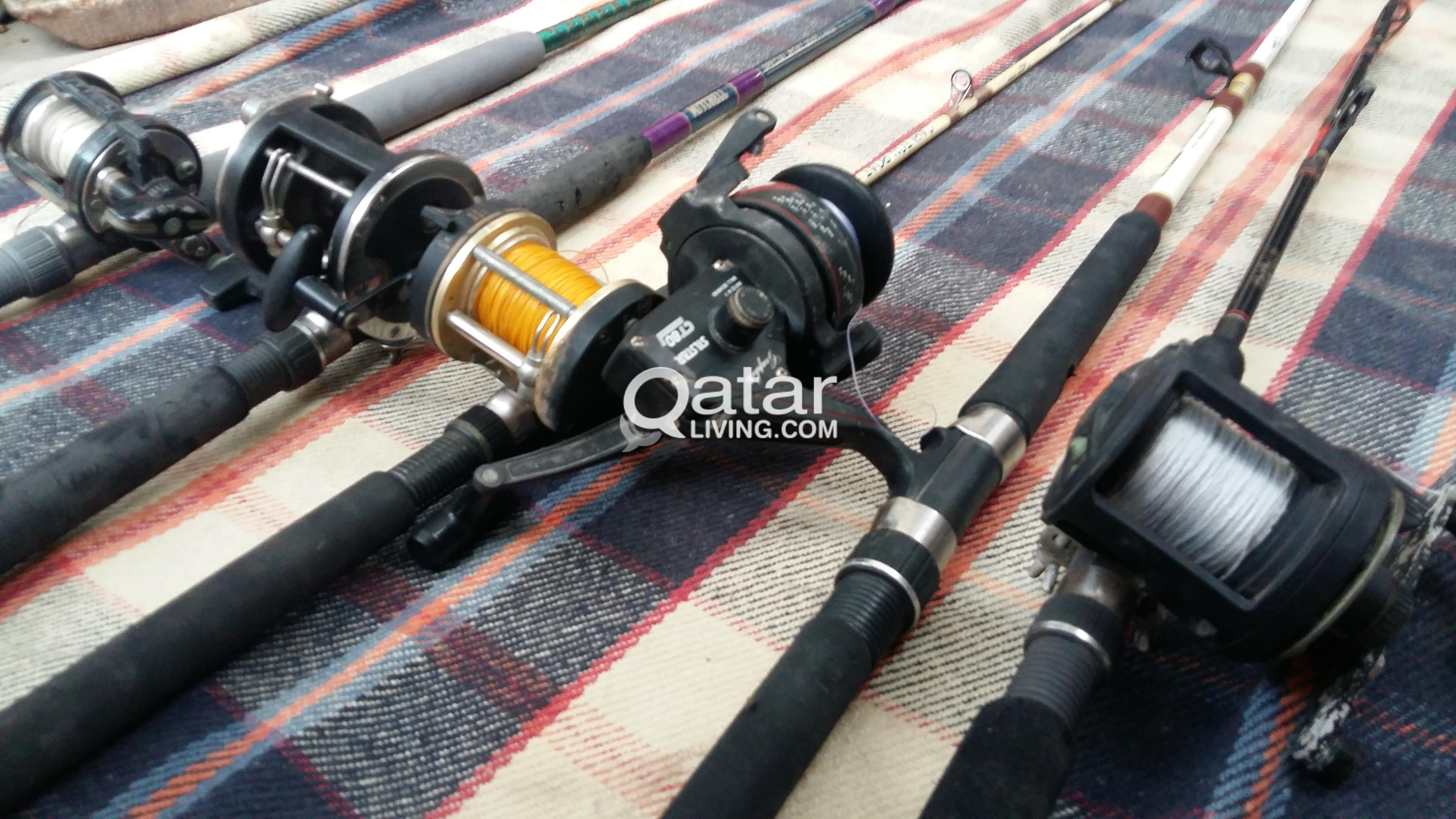FISHING RODS AND LURES FOR SALE USED | Qatar Living