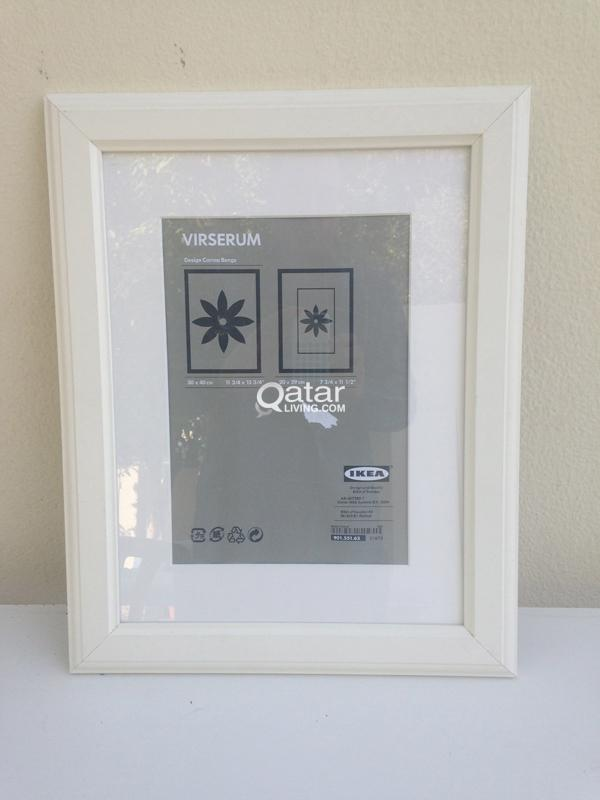 White Ikea Virserum photo frames | Qatar Living