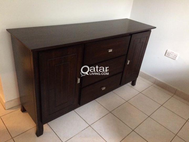 Credenza Dark Wood : Furniture for sale dark wood credenza cabinet qatar living