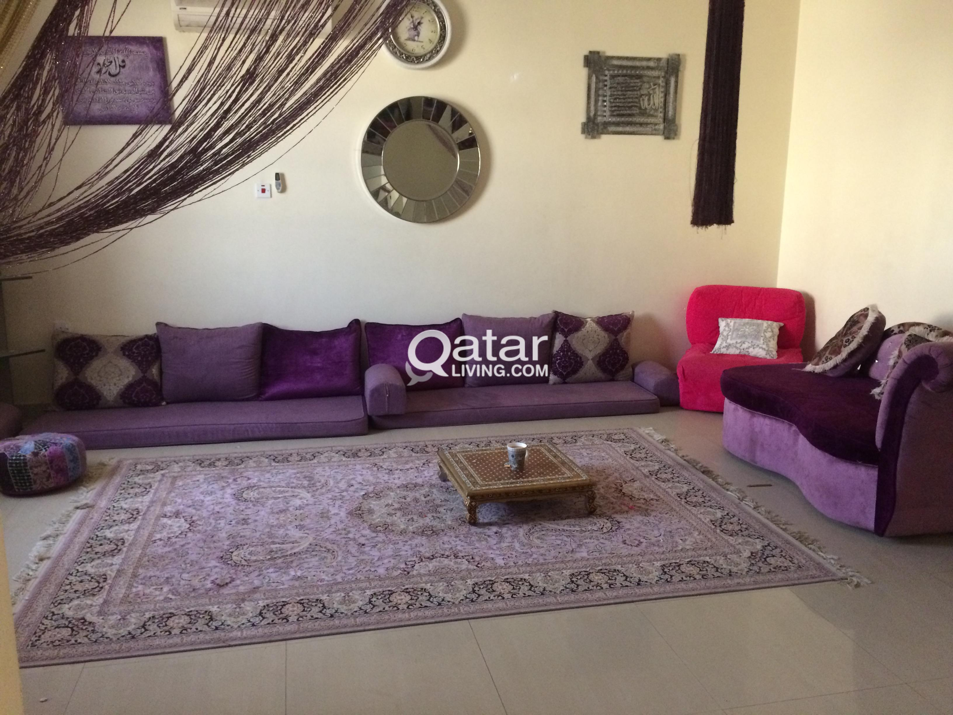 Sofa and gold tables Majlis set | Qatar Living