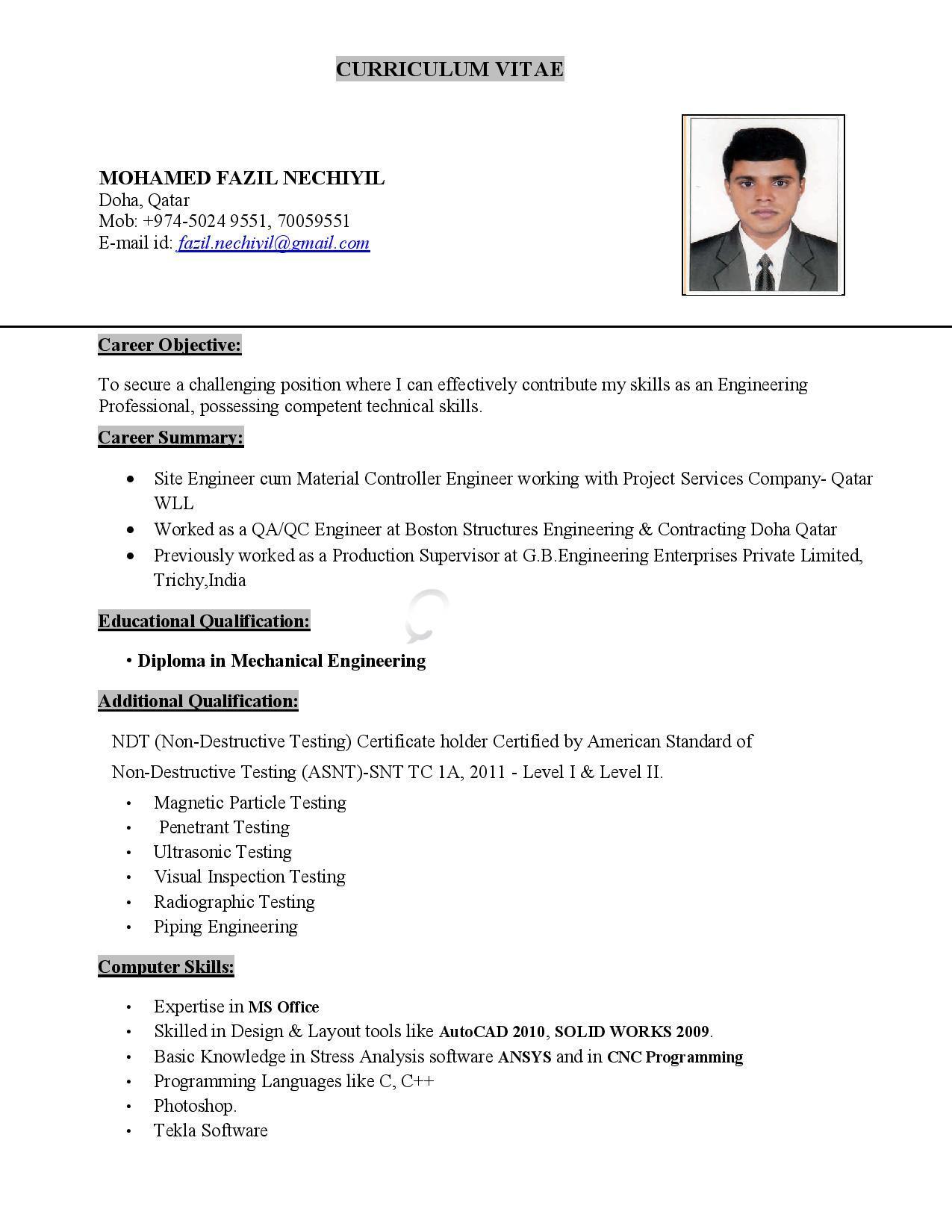MECHANICAL SITE ENGINEER / QA/QC ENGINEER | Qatar Living