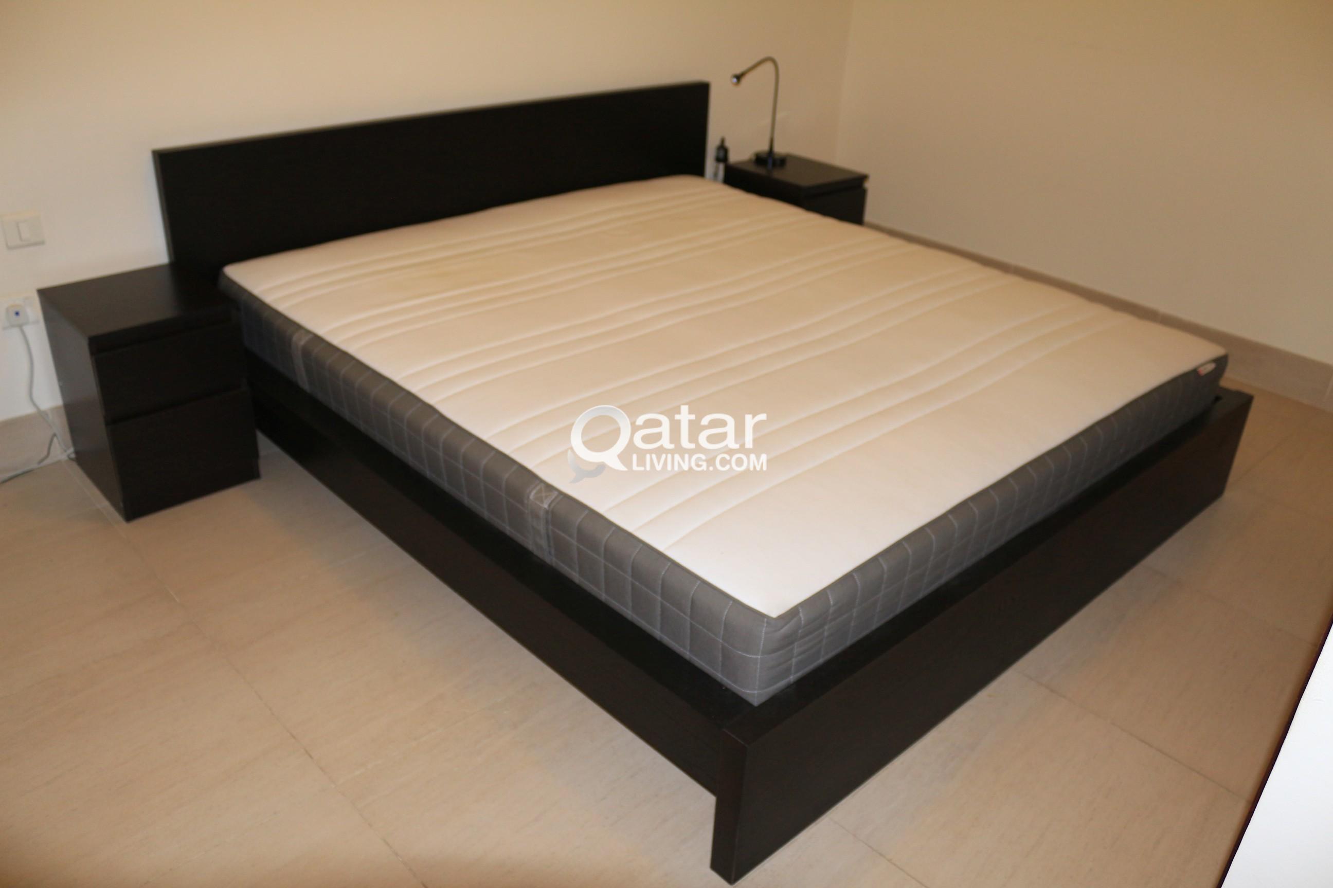 Ikea Malm Bed King Size Sprung Mattress Qatar Living