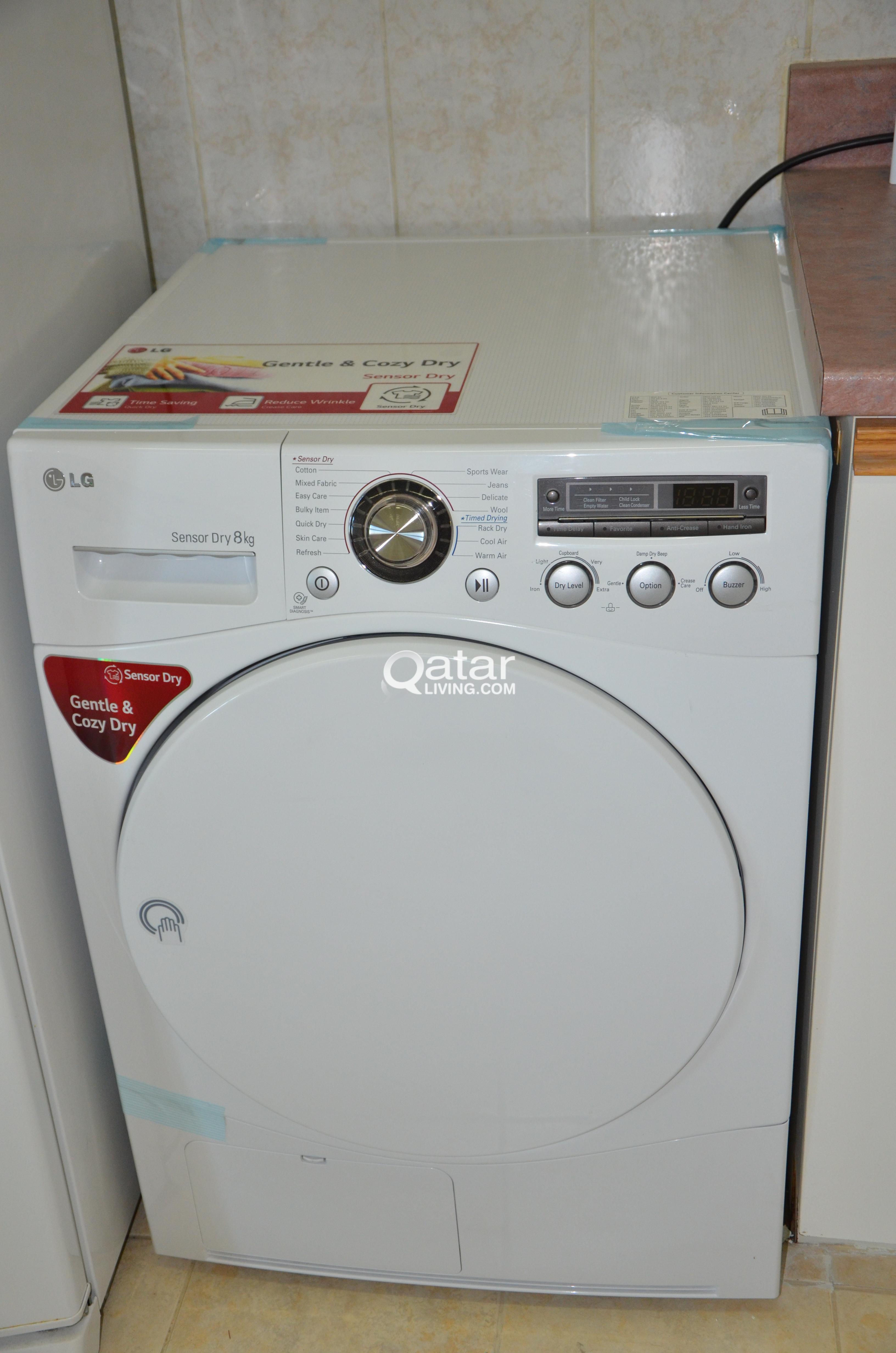 LG Dryer - Sensor dry 8 Kg capacity | Qatar Living