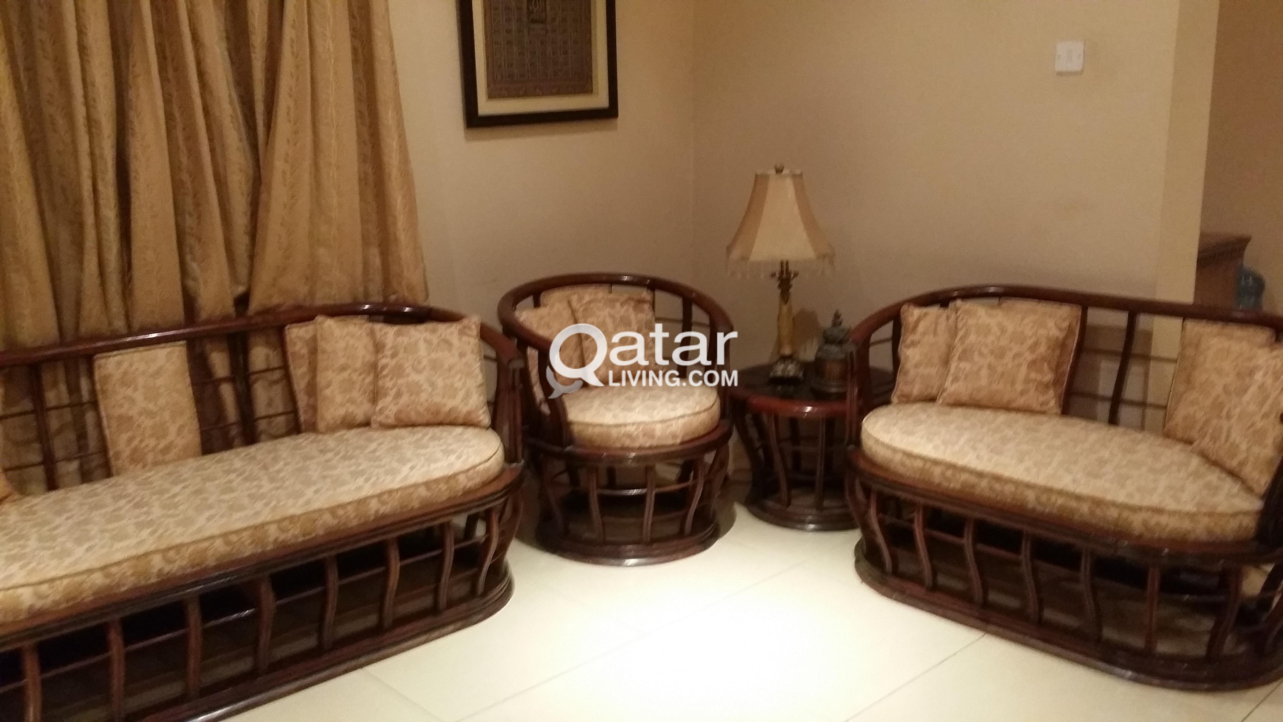 Wood 7 Seater Sofa Qatar Living