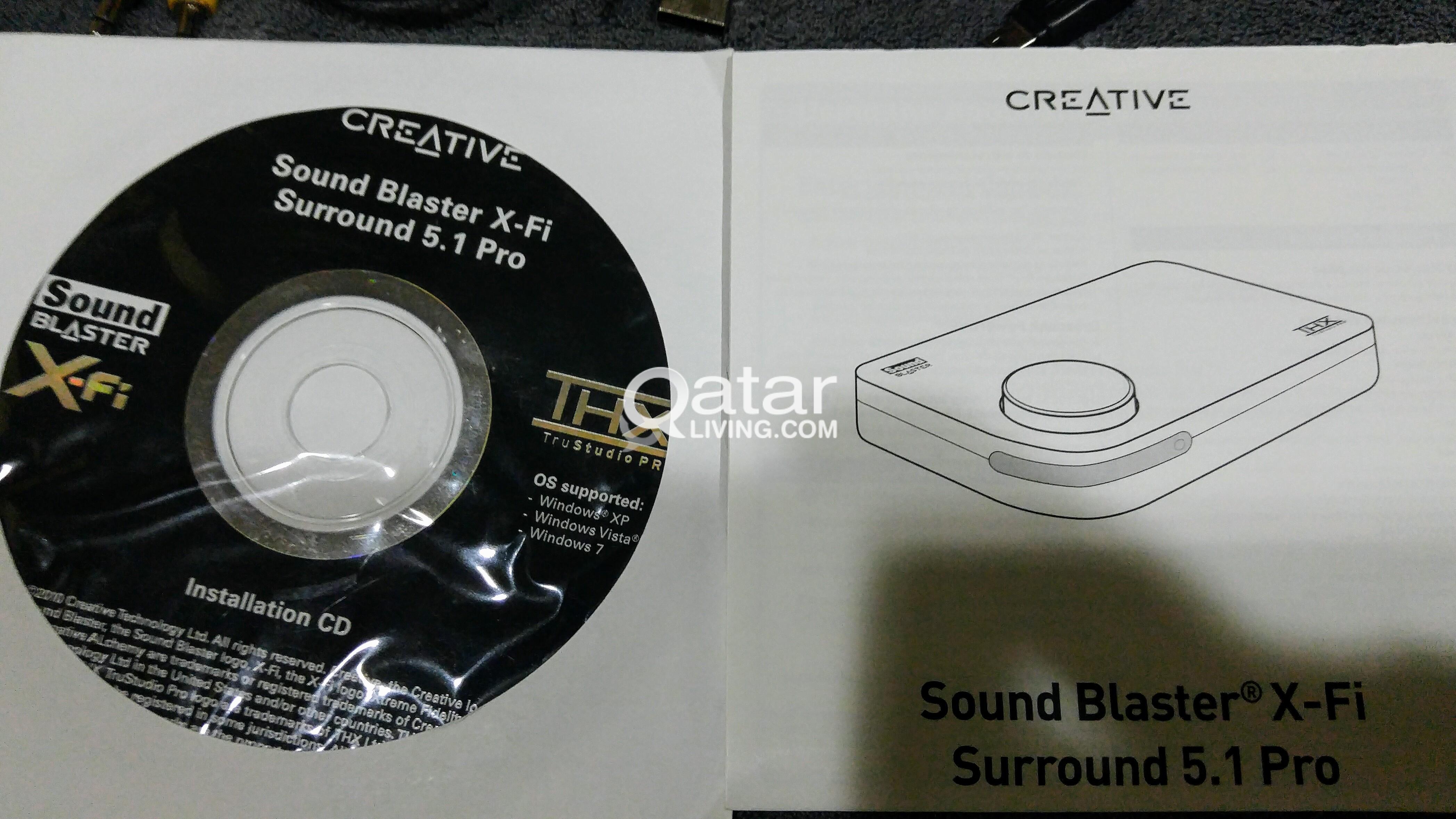 Creative USB audio Sound Blaster XFi Pro 5 1   Qatar Living