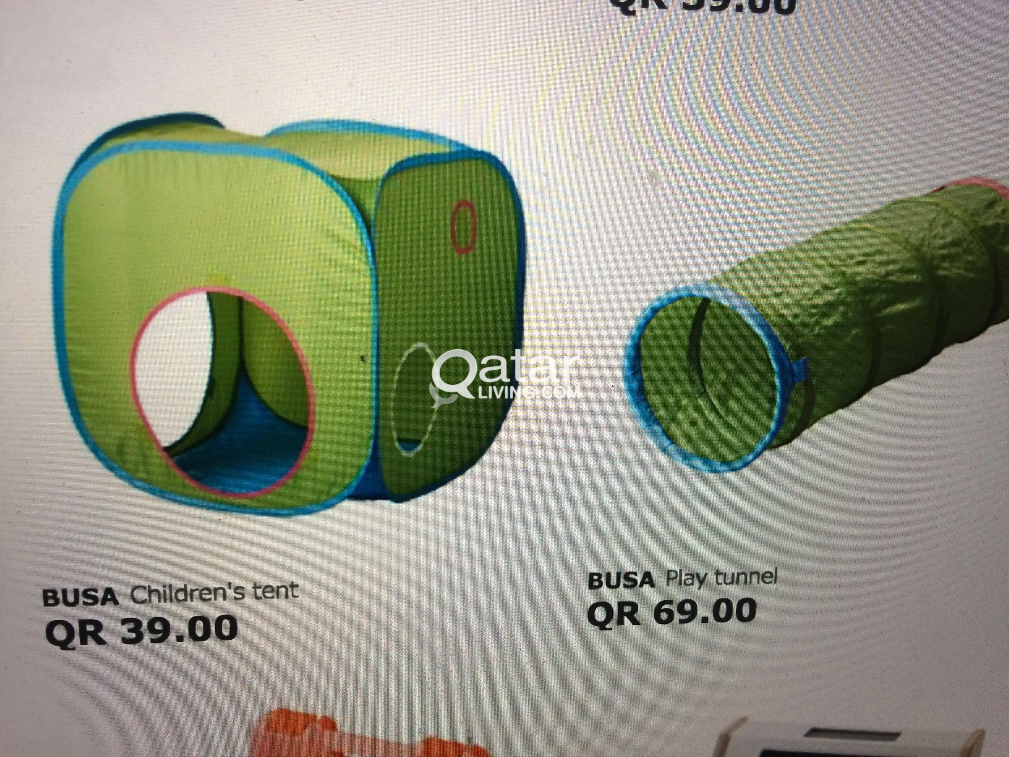 title; title; title & IKEA green play tent with play tunnel | Qatar Living