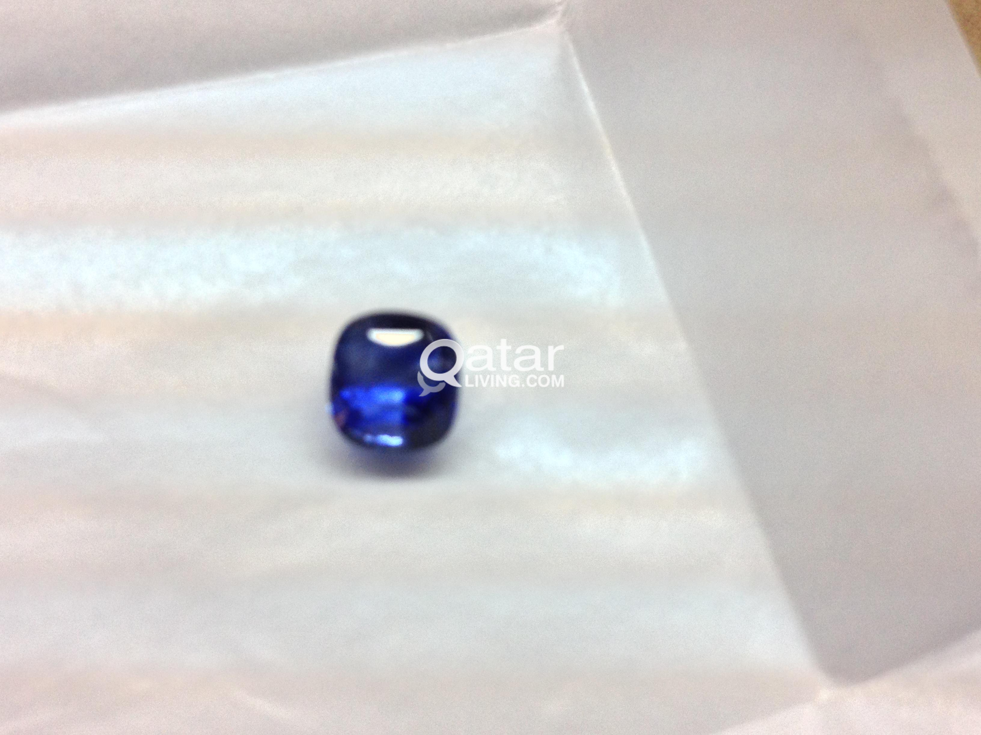 sapphire ct cut royal blue platinum engagement emerald untreated natural gia more ring custom views rings
