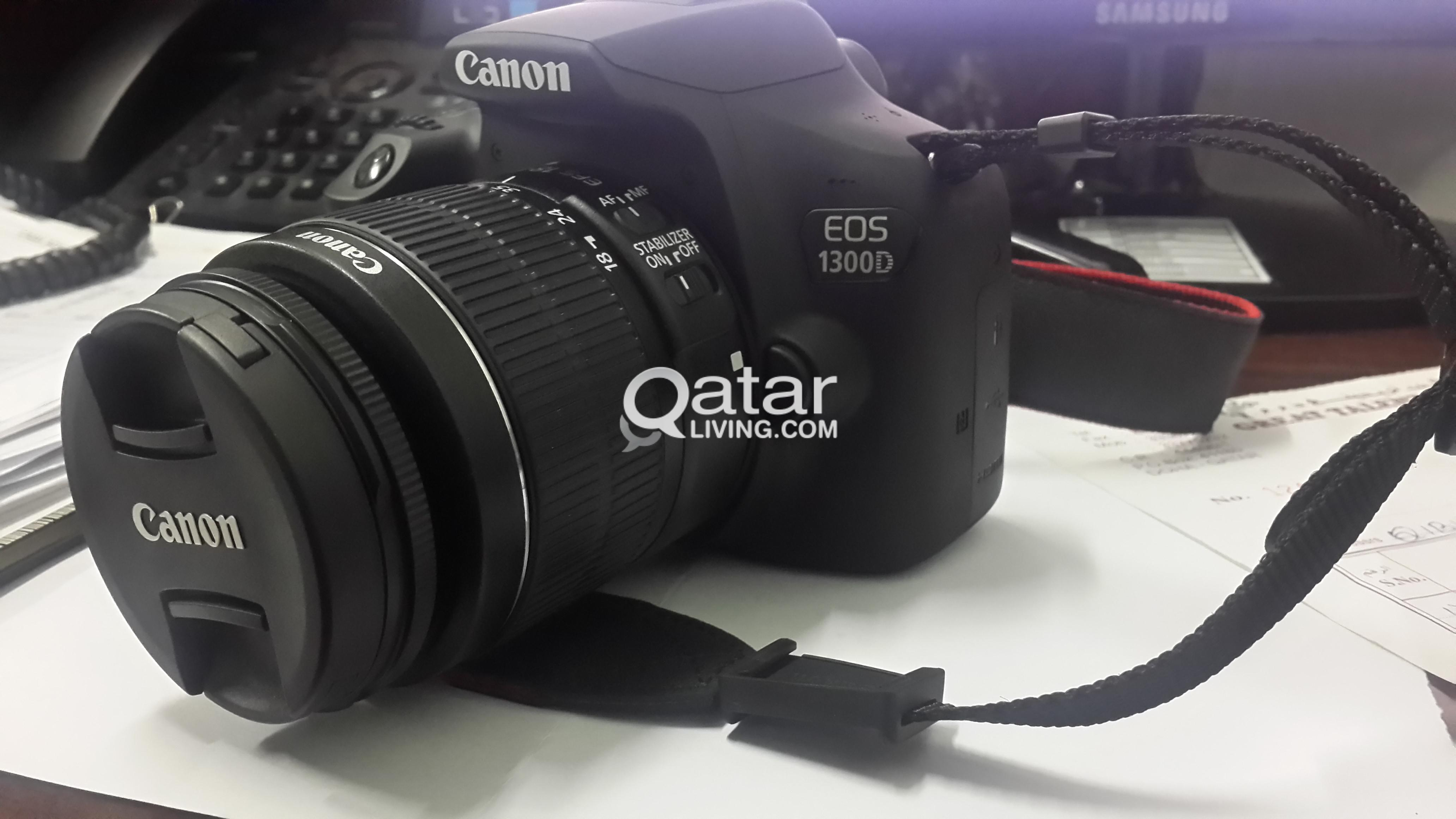 CANON 1300D DSLR with WiFi +18-55mm lens+bag | Qatar Living