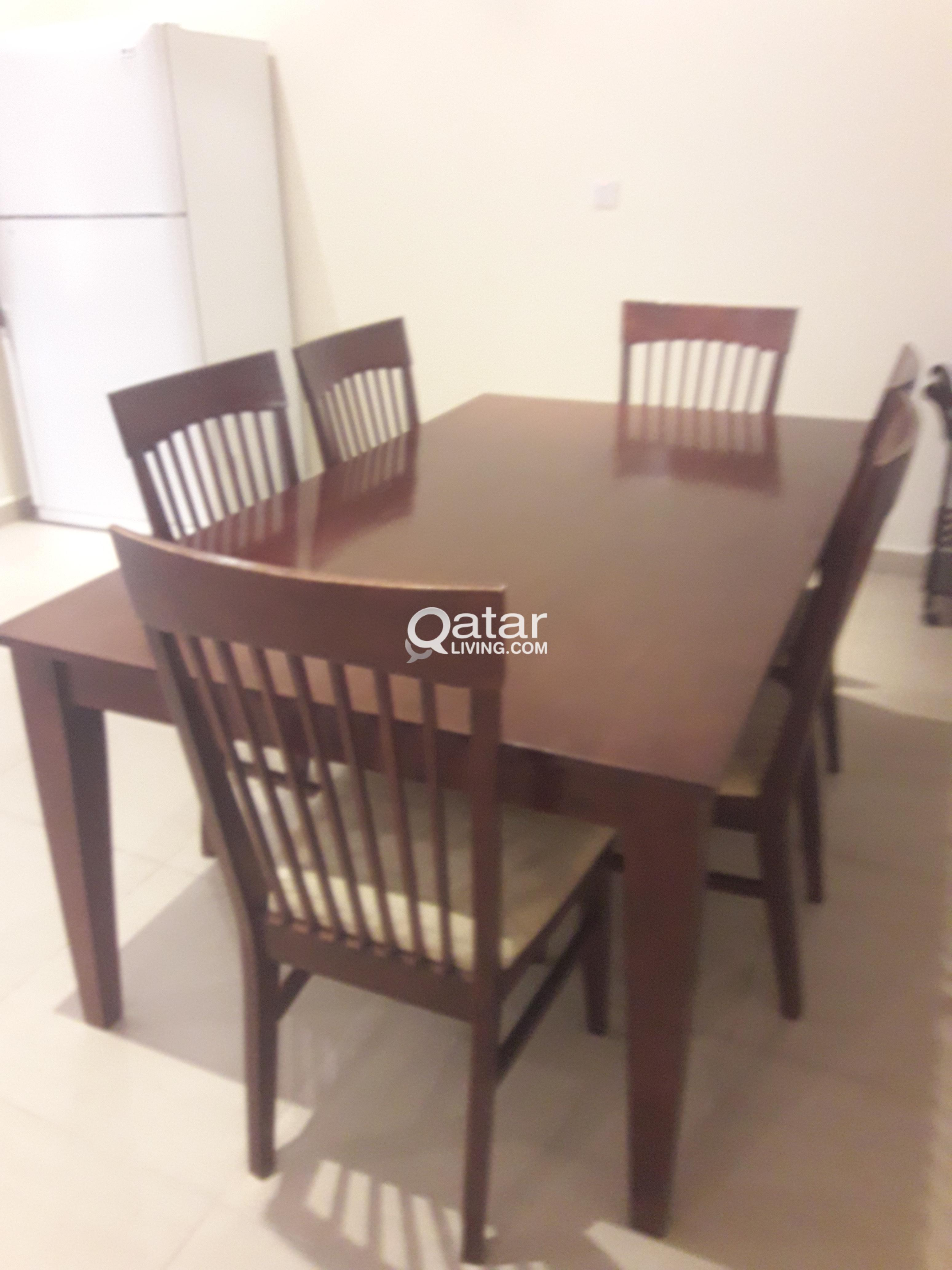 Dining table and chairs qatar living