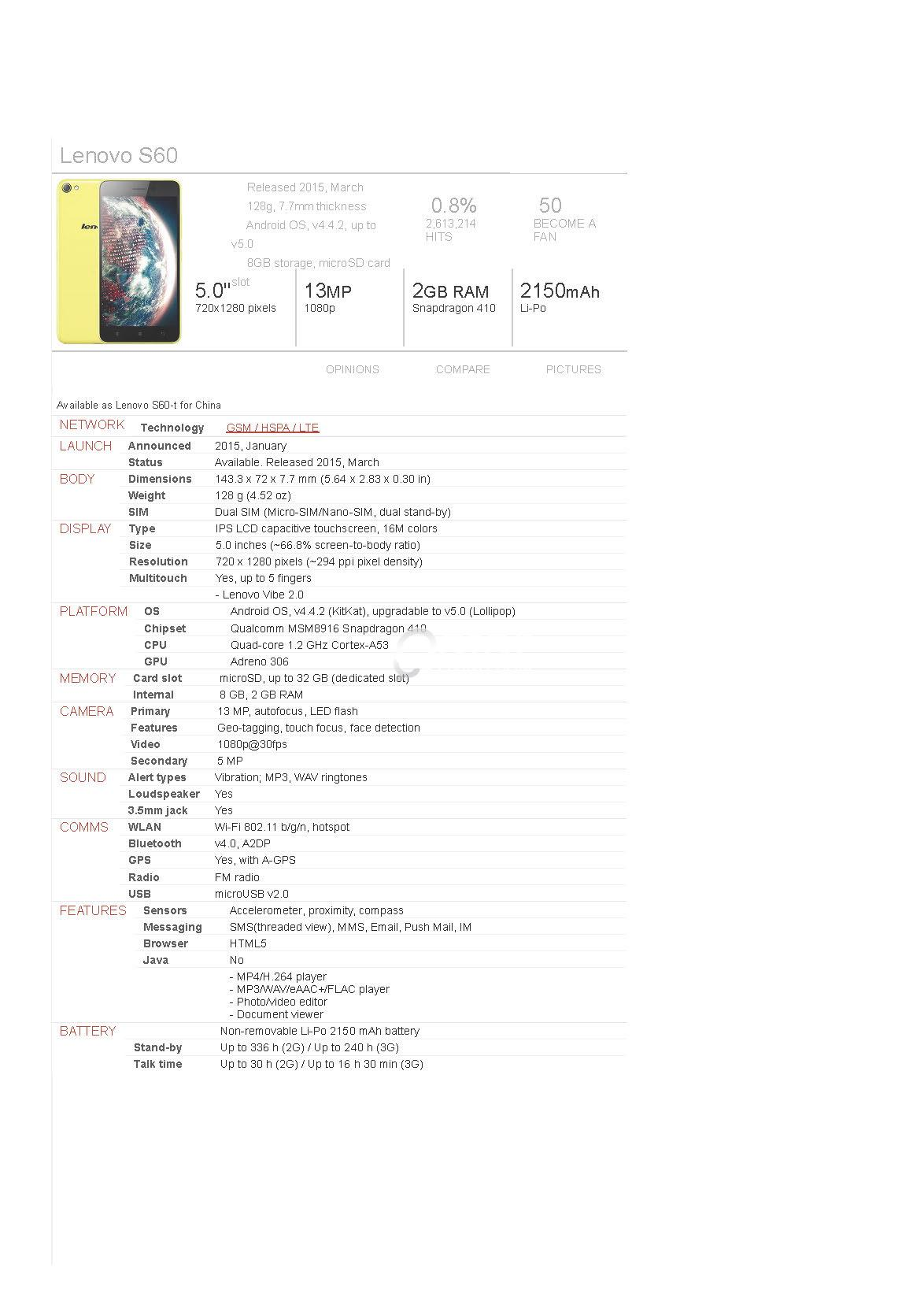 LENOVO A319 & S60 for Sale (Buy one Take One)Package DEAL