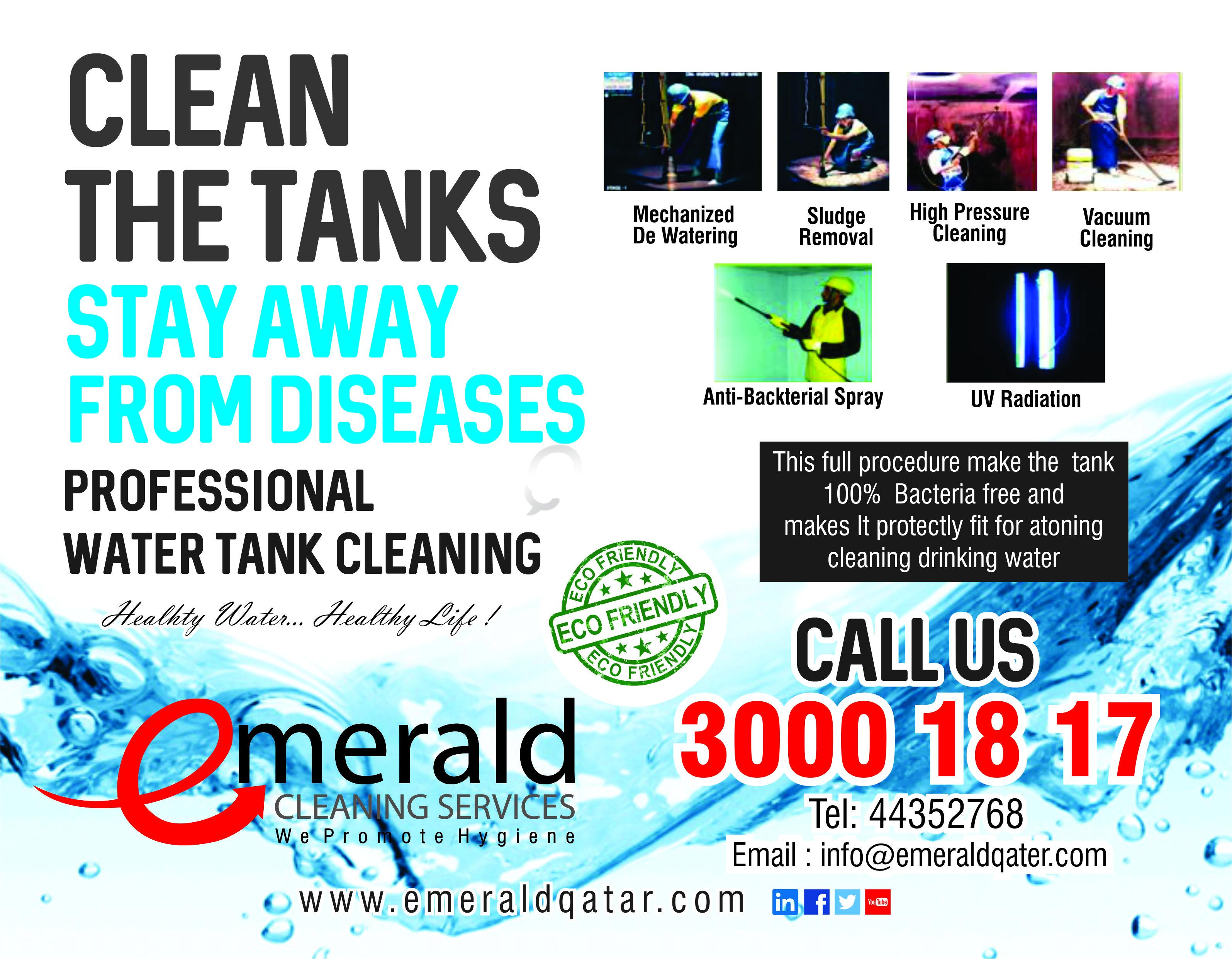 how to keep water tank clean