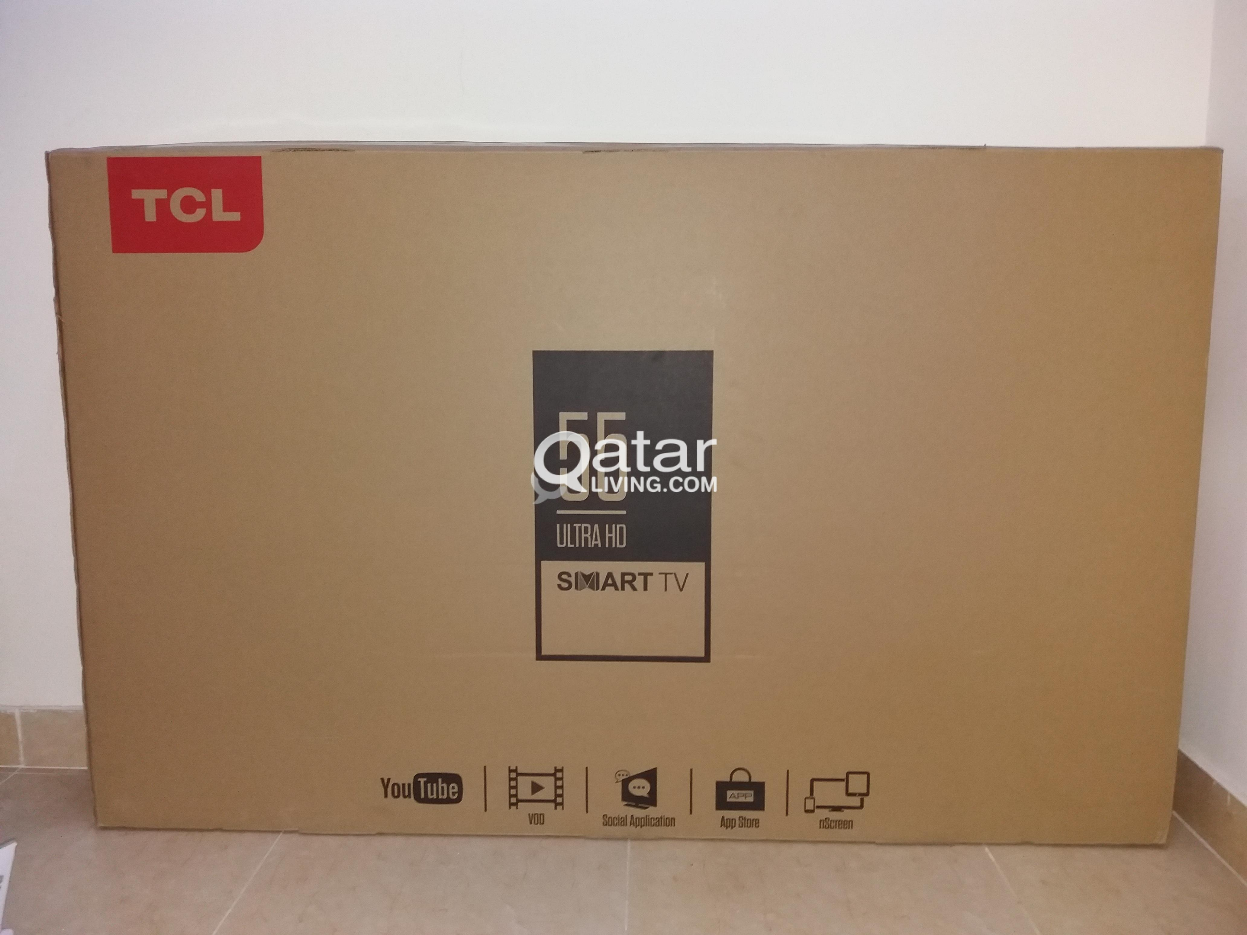 Tcl tv brand new 55 inch ultra he only 5 months with complete bill