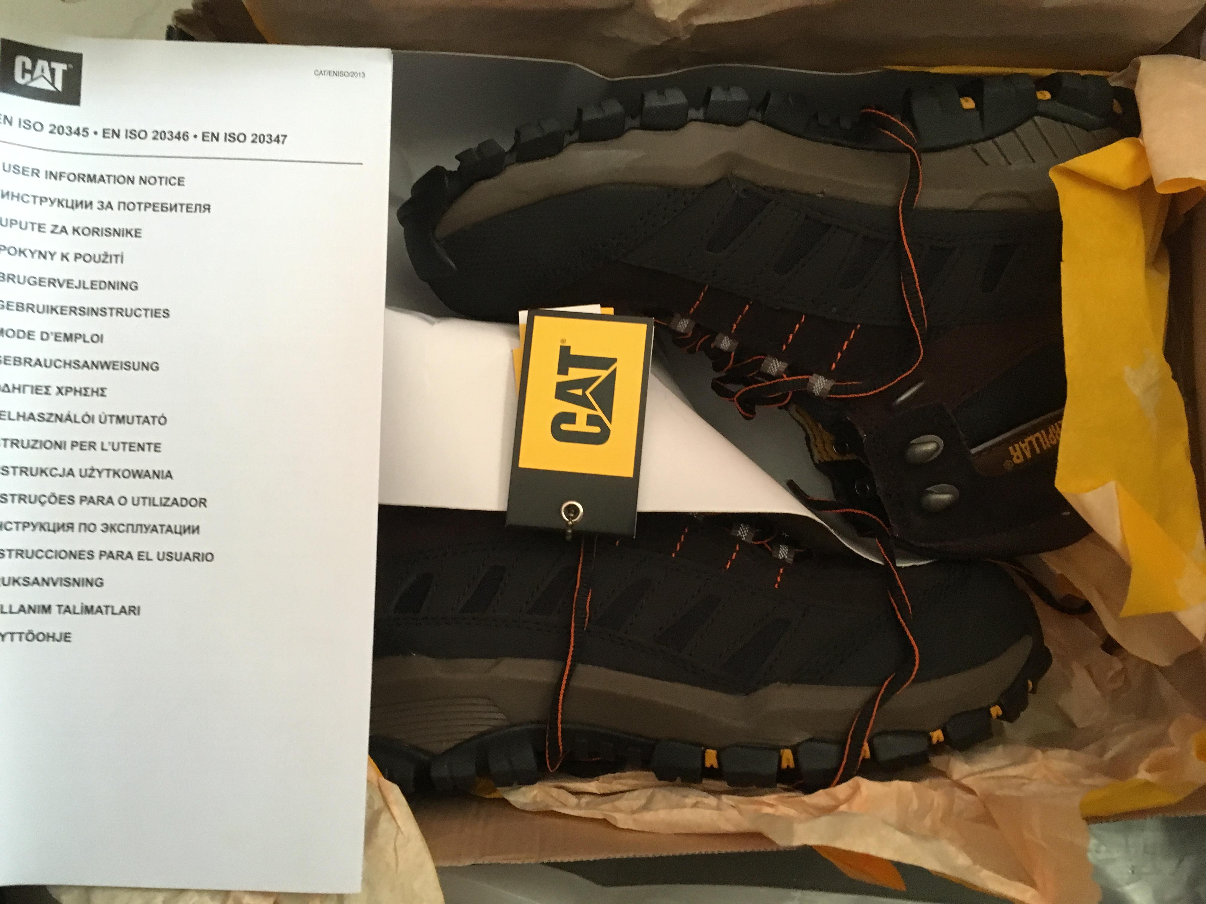 Brand New Cat Caterpillar Safety Shoes With Steel Toe In Boxed Packing Half Unwanted Gift Qatar Living