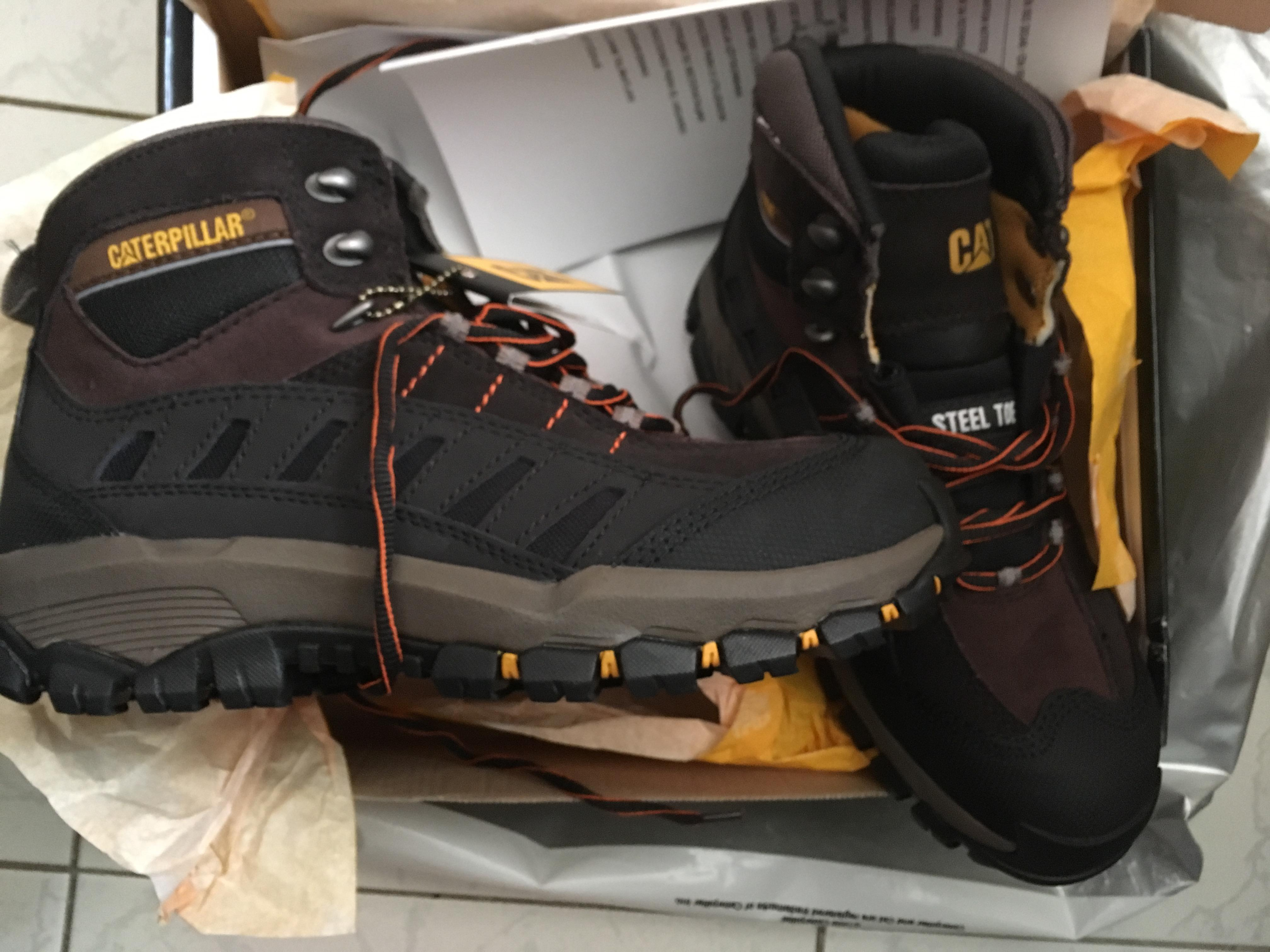 6b9f7563 ... BRAND NEW CAT (CATERPILLAR) Safety Shoes with Steel Toe in Boxed  Packing Half price ...