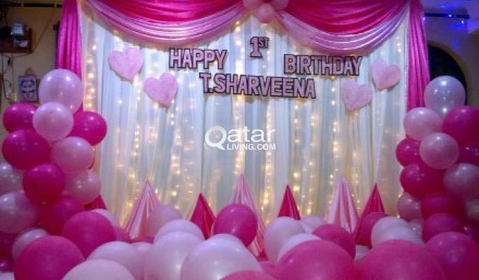 Birthday Party Managementballoon decor Qatar Living
