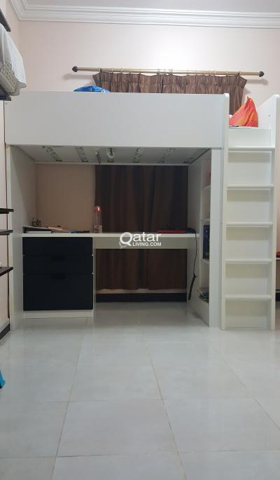 Bunk Bed With Attached Study Table And Wardrobe Qatar Living