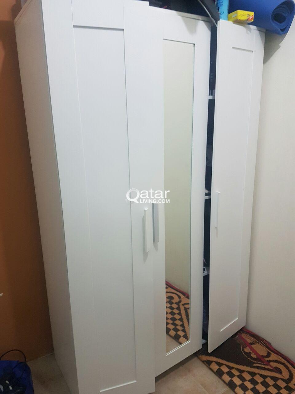 IKEA BRIMNES Wardrobe with 3 doors, white, 117x190 cm