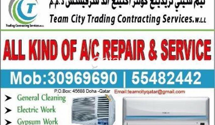 A/C Maintenance, Cleaning and Gypsum Work