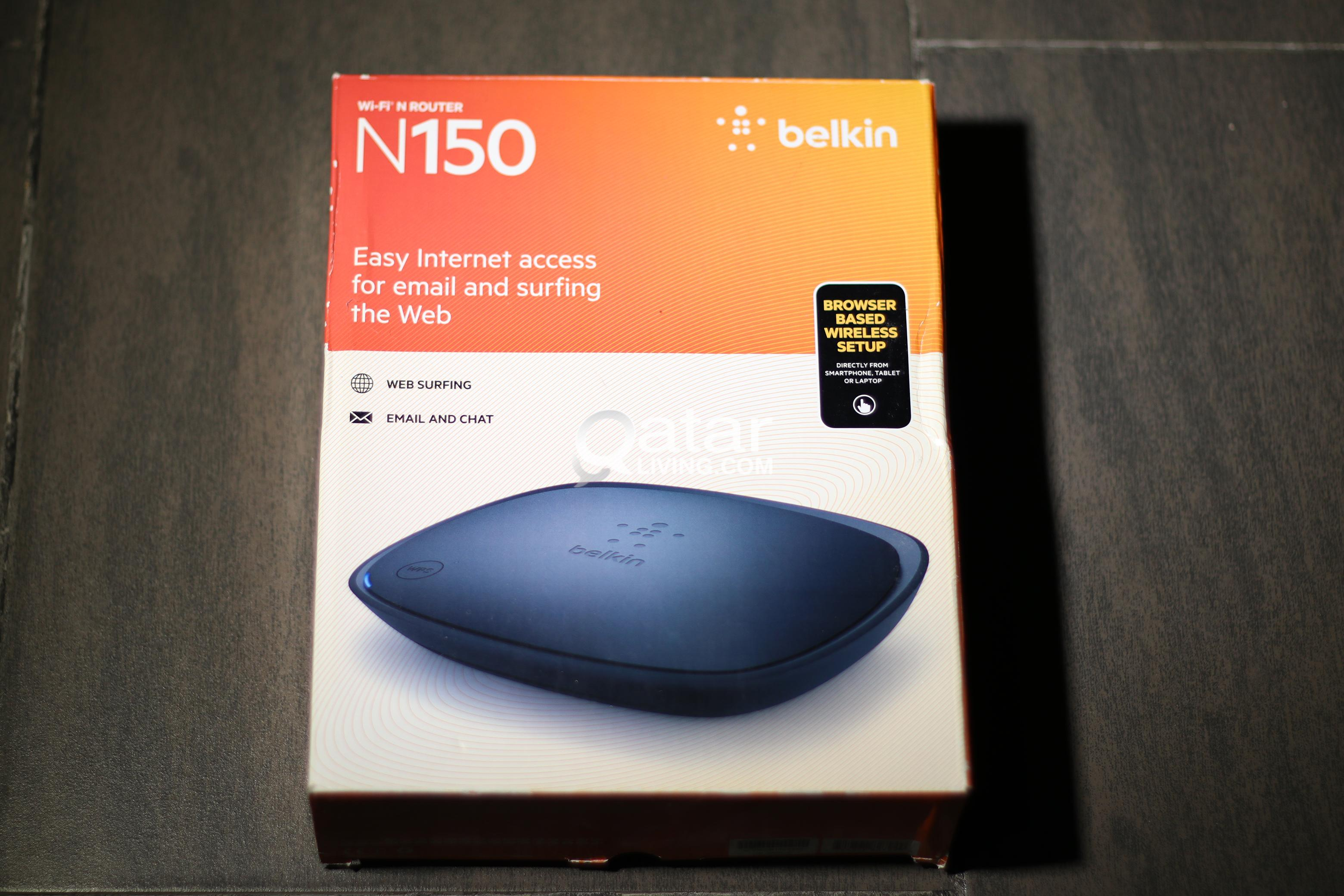 Belkin wifi routernever been used qatar living title title title title information still new belkin wifi router greentooth Choice Image
