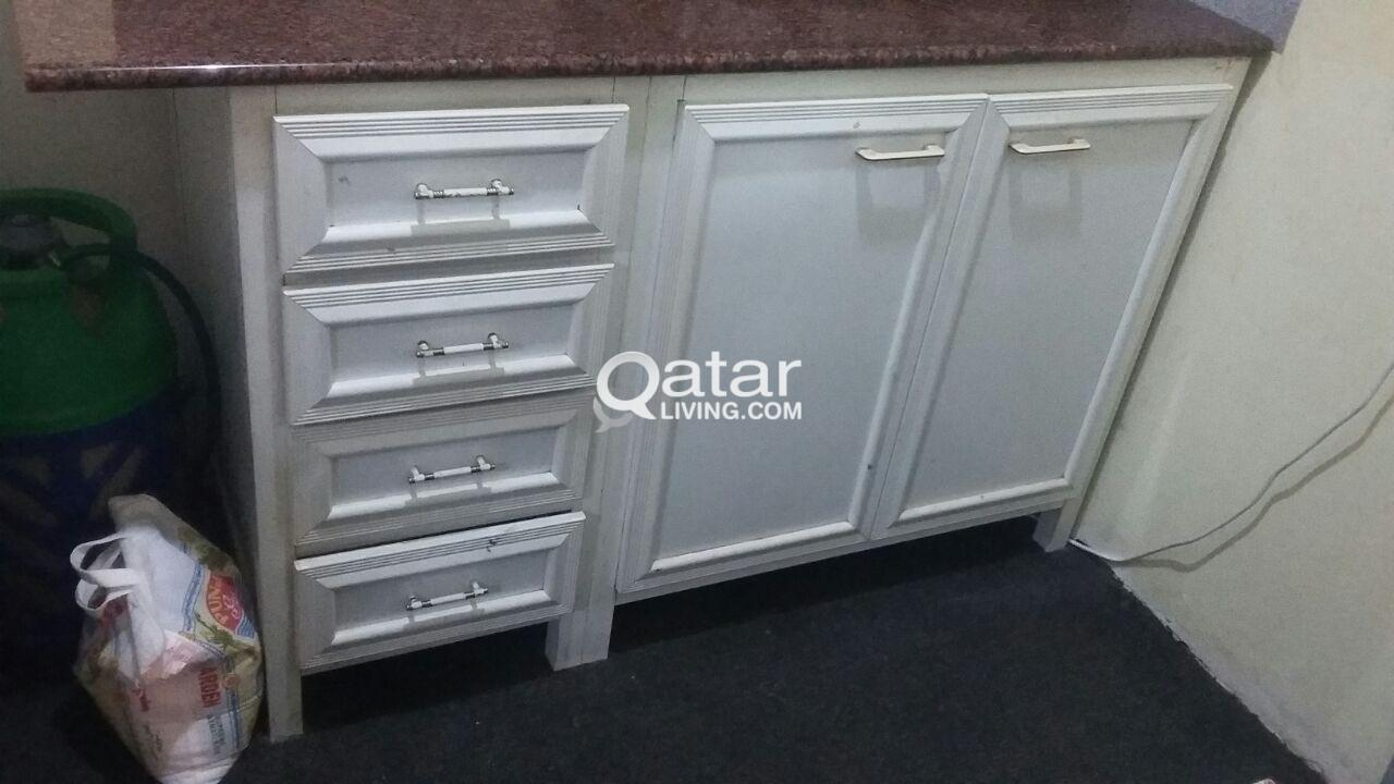 Two Metal Kitchen Cabinets for sale. | Qatar Living