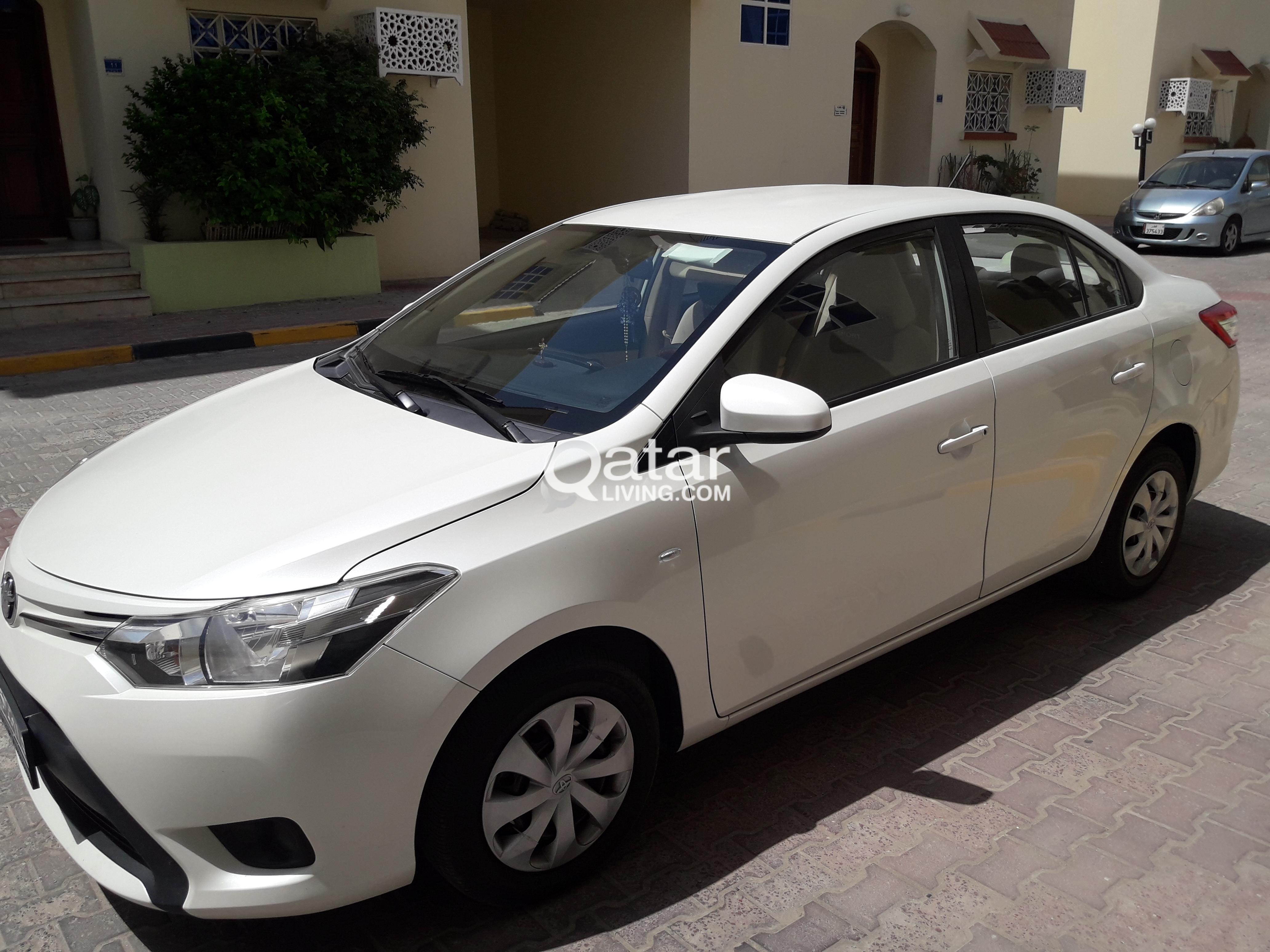 For Sale Toyota Yaris 2015 White Pearl Call 50246230 Qatar Living