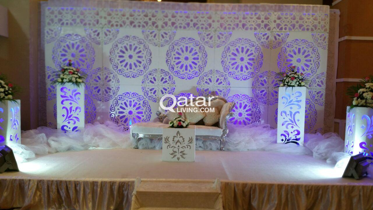Wedding decoration and planning services qatar living information wedding decorations junglespirit Images