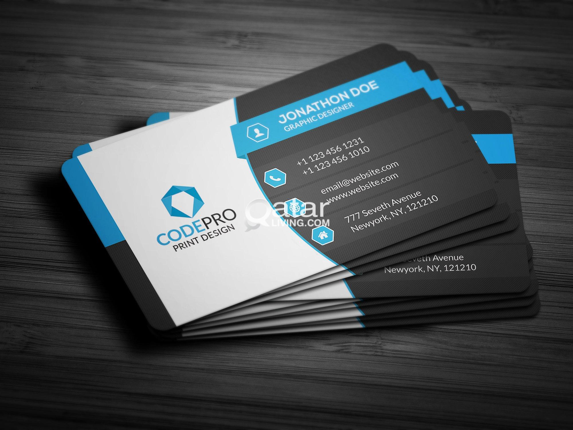 Freelance logo designerbrochurebusiness carddesigns for New business cards