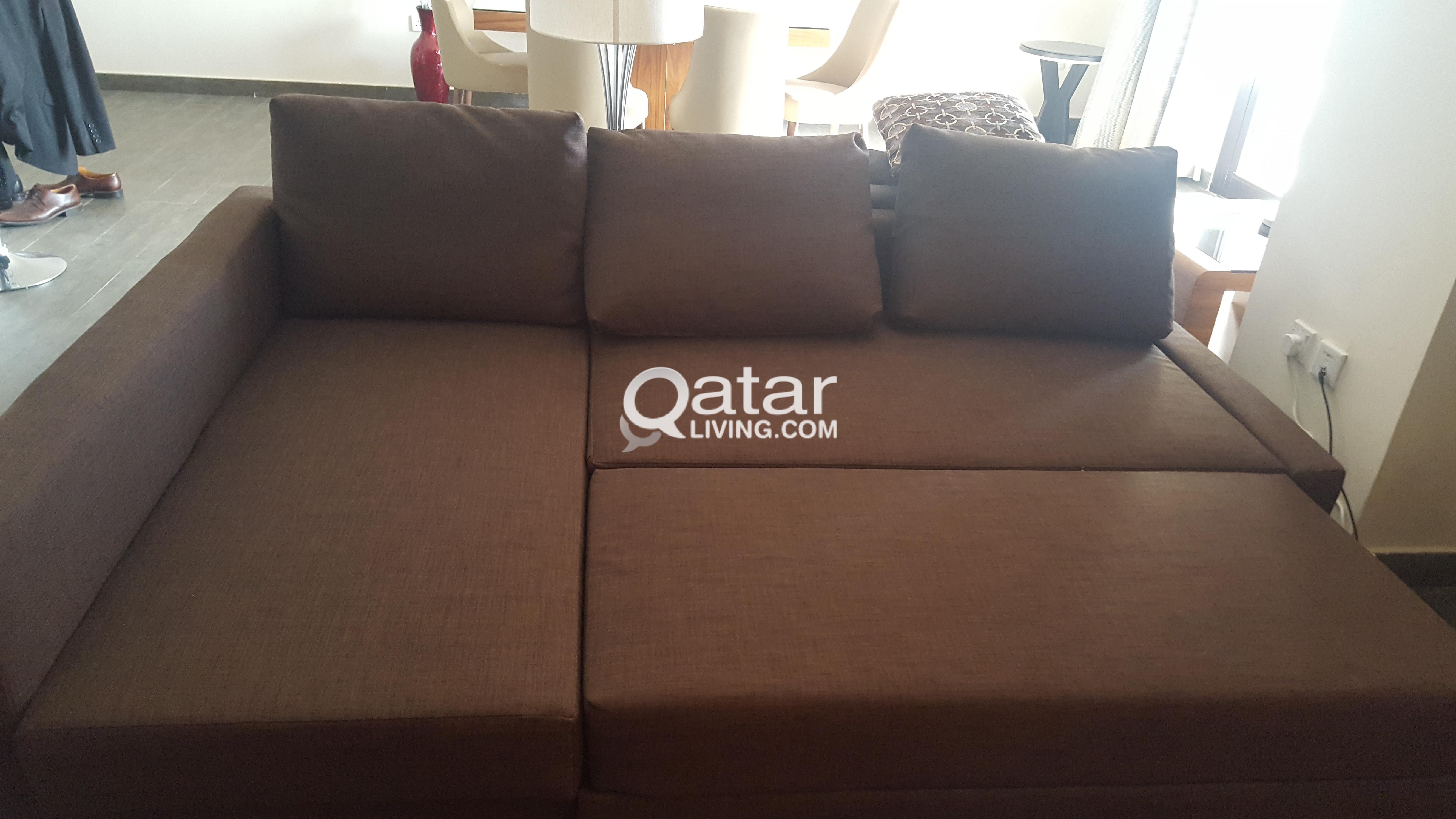 Coffee Brown L Shaped Sofa Bed Qatar Living