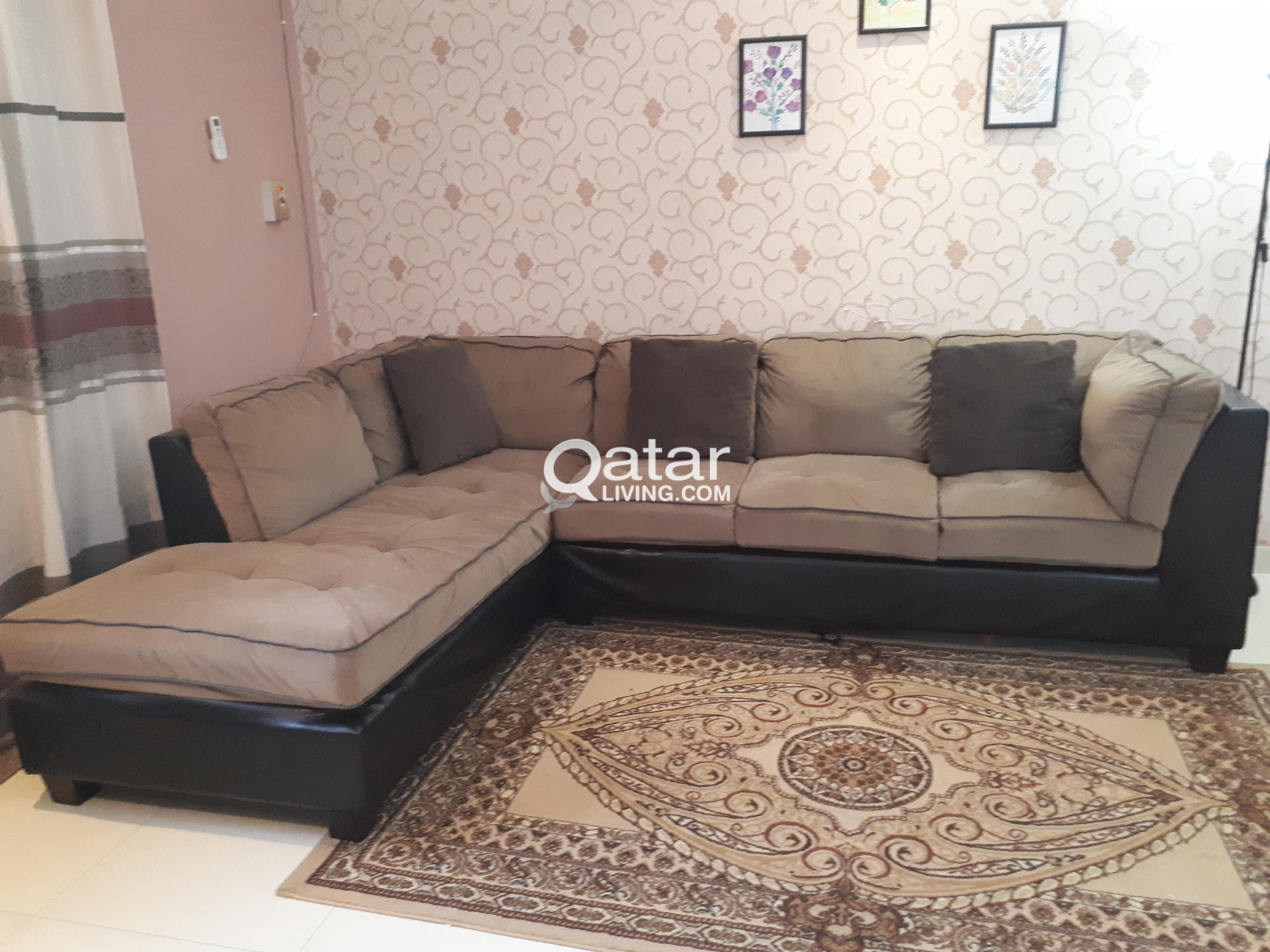Sofa l shap pan emirates qatar living for Sofa bed qatar living