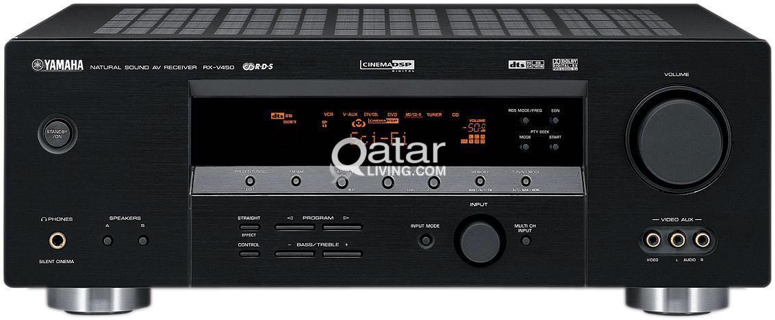 yamaha rx v450 amplifier 510w home theater qatar living rh qatarliving com Yamaha Owners ManualDownload Yamaha Electronics Manuals
