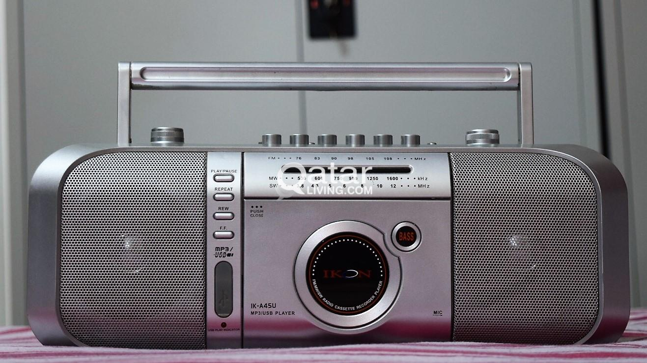 IKON - Radio/Cassette/Recorder/ MP3 Player | Qatar Living