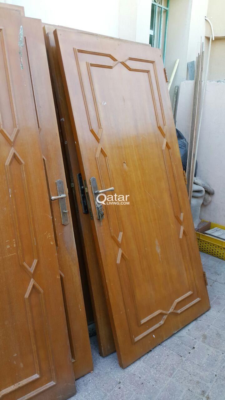 Used wooden doors for sale | Qatar Living on