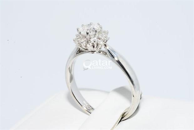 Natural Round Cut White Diamond Engagement Ring Qatar Living