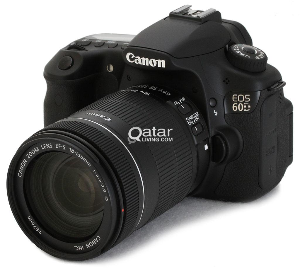 Canon Eos 60d 18 Mp Cmos Digital Slr Camera With 18 135mm F 3 5 5 6 Is Ud Lens Qatar Living