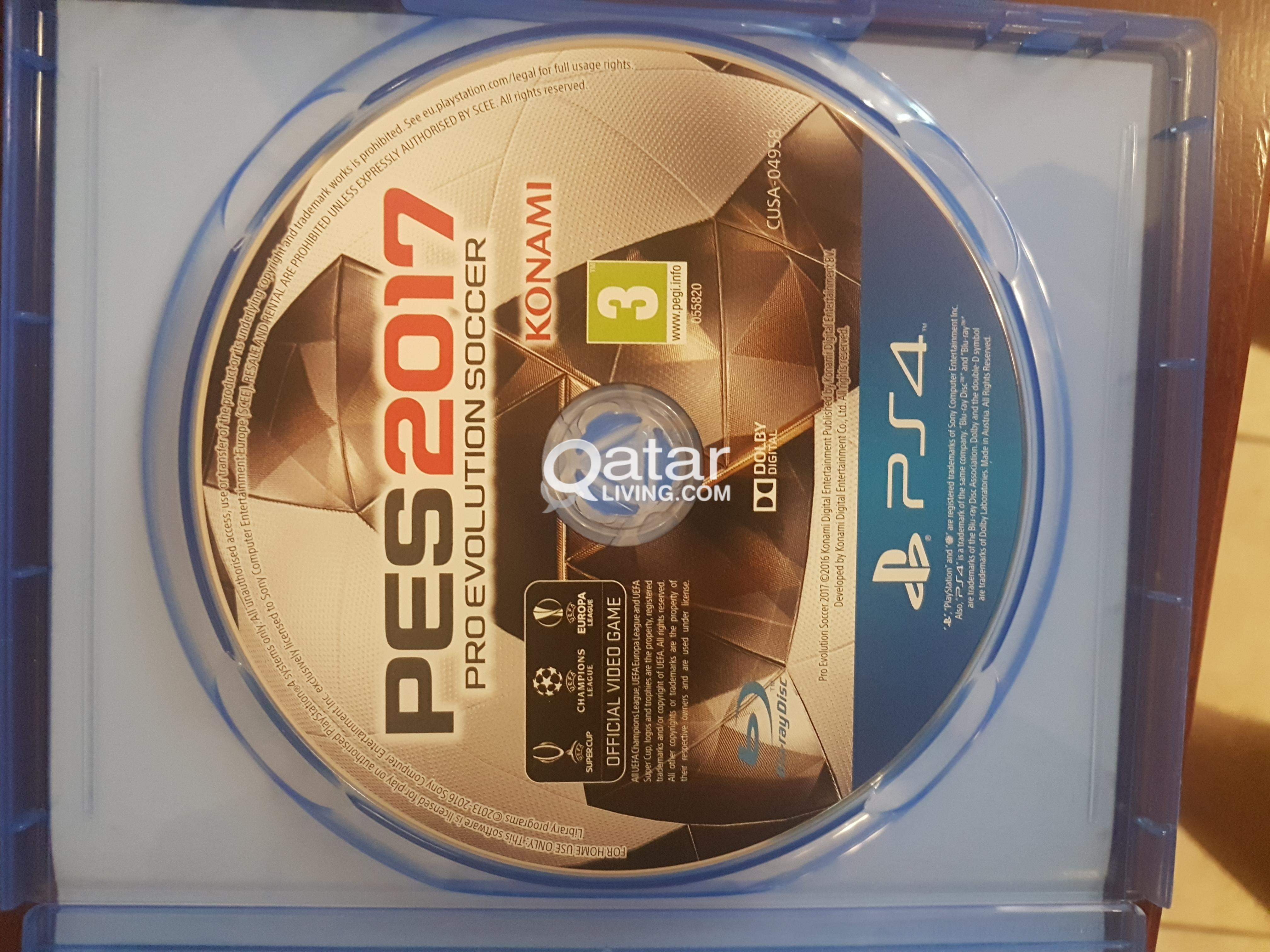 Pes 2017 Ps4 Game Pro Evolution Soccer Qatar Living Sony Title Information Disk For Playstation 4