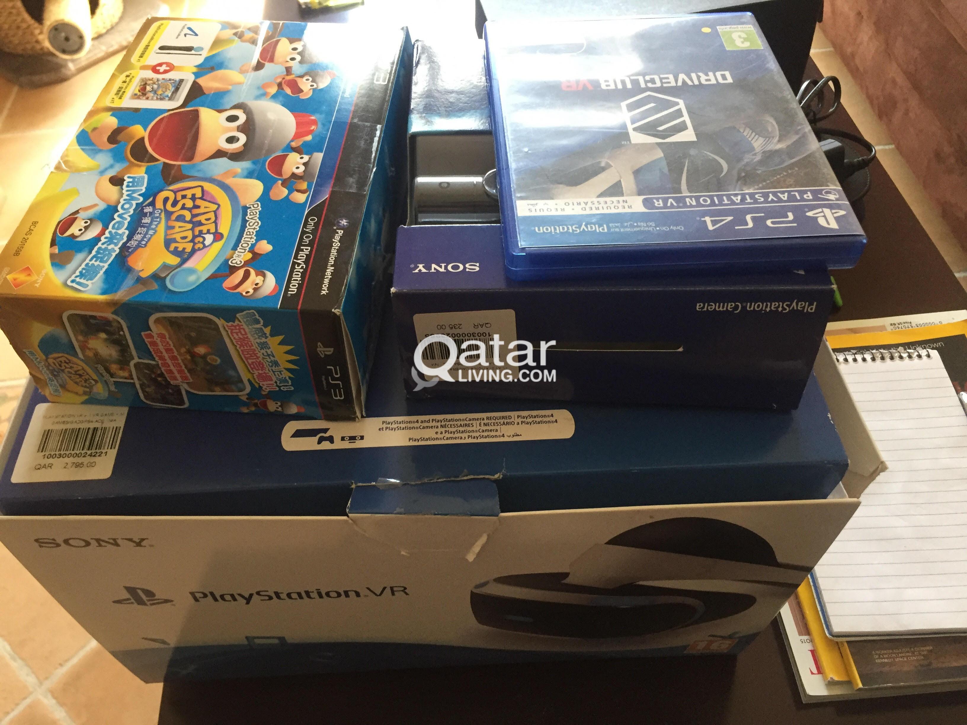 PS VR + DRIVE CLUB VR + CAMERA + ONE HAND STICK | Qatar Living